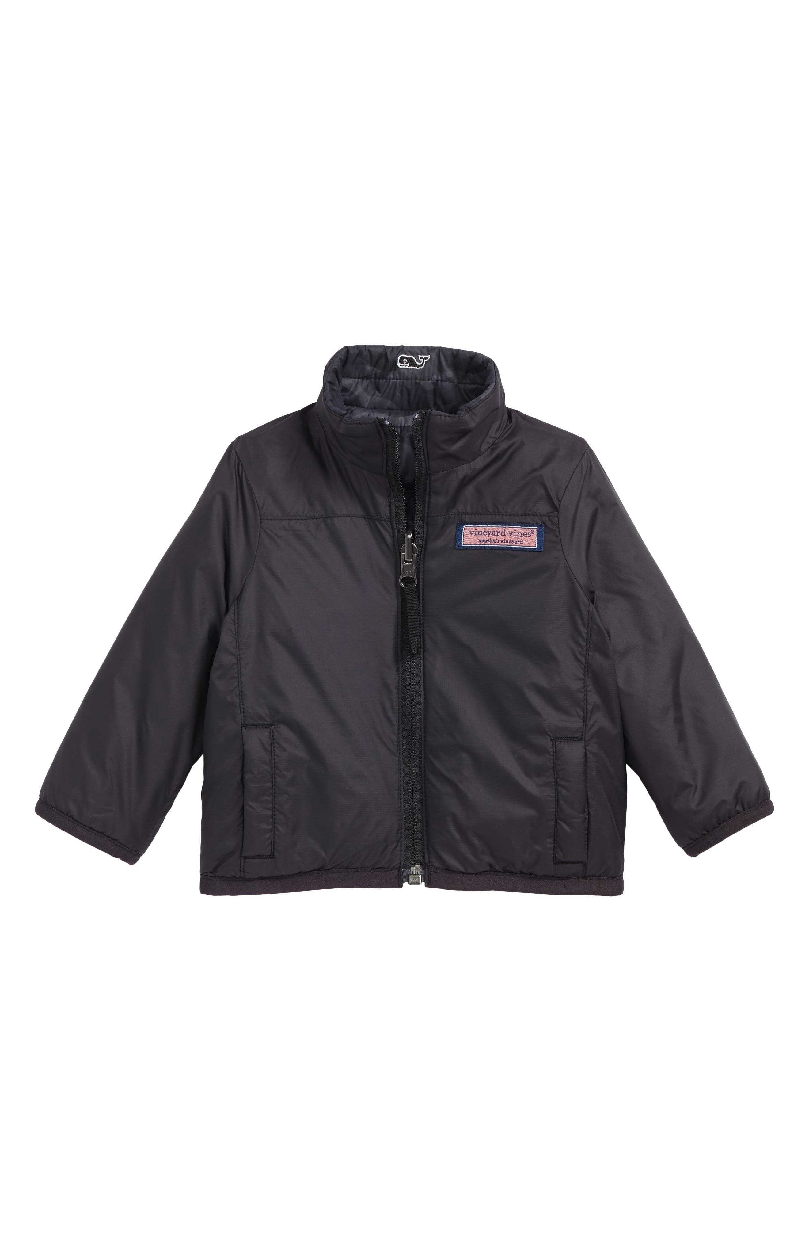 Reversible Mountain Weekend Jacket,                             Alternate thumbnail 2, color,                             Jet Black