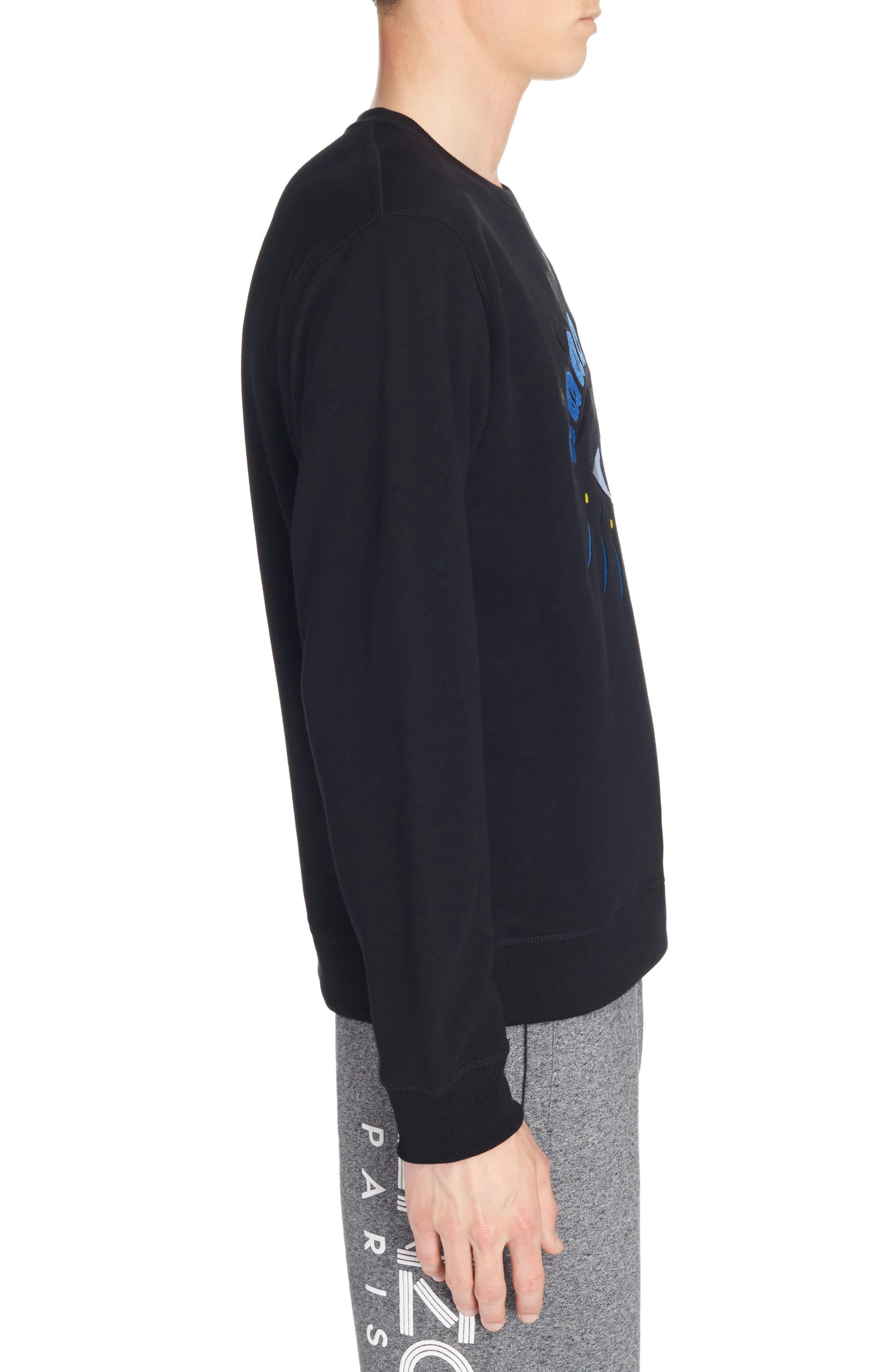 Embroidered Eye Sweatshirt,                             Alternate thumbnail 3, color,                             Black