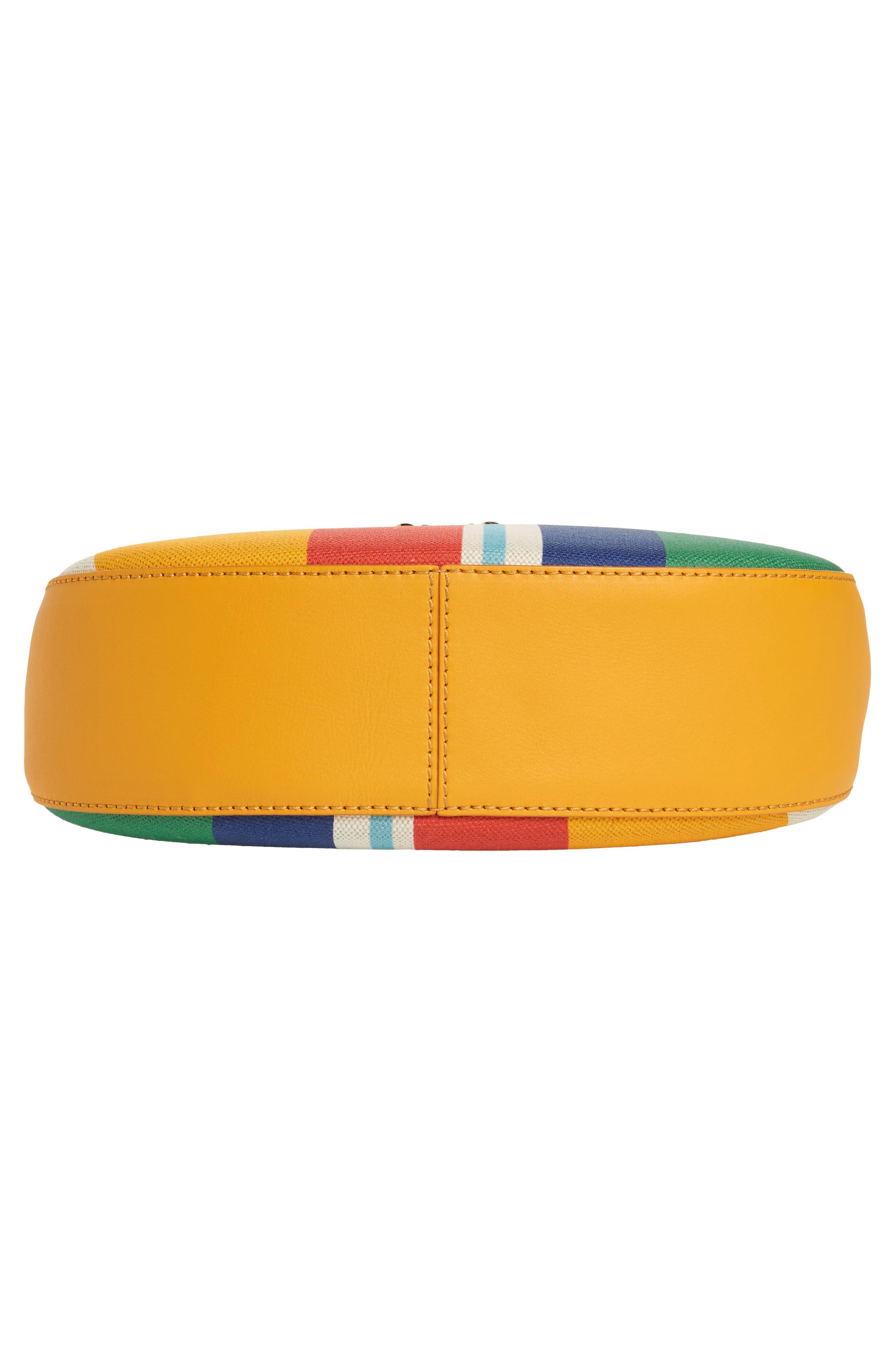 Medium Patricia Canvas Hobo Bag,                             Alternate thumbnail 6, color,                             Rainbow Yellow