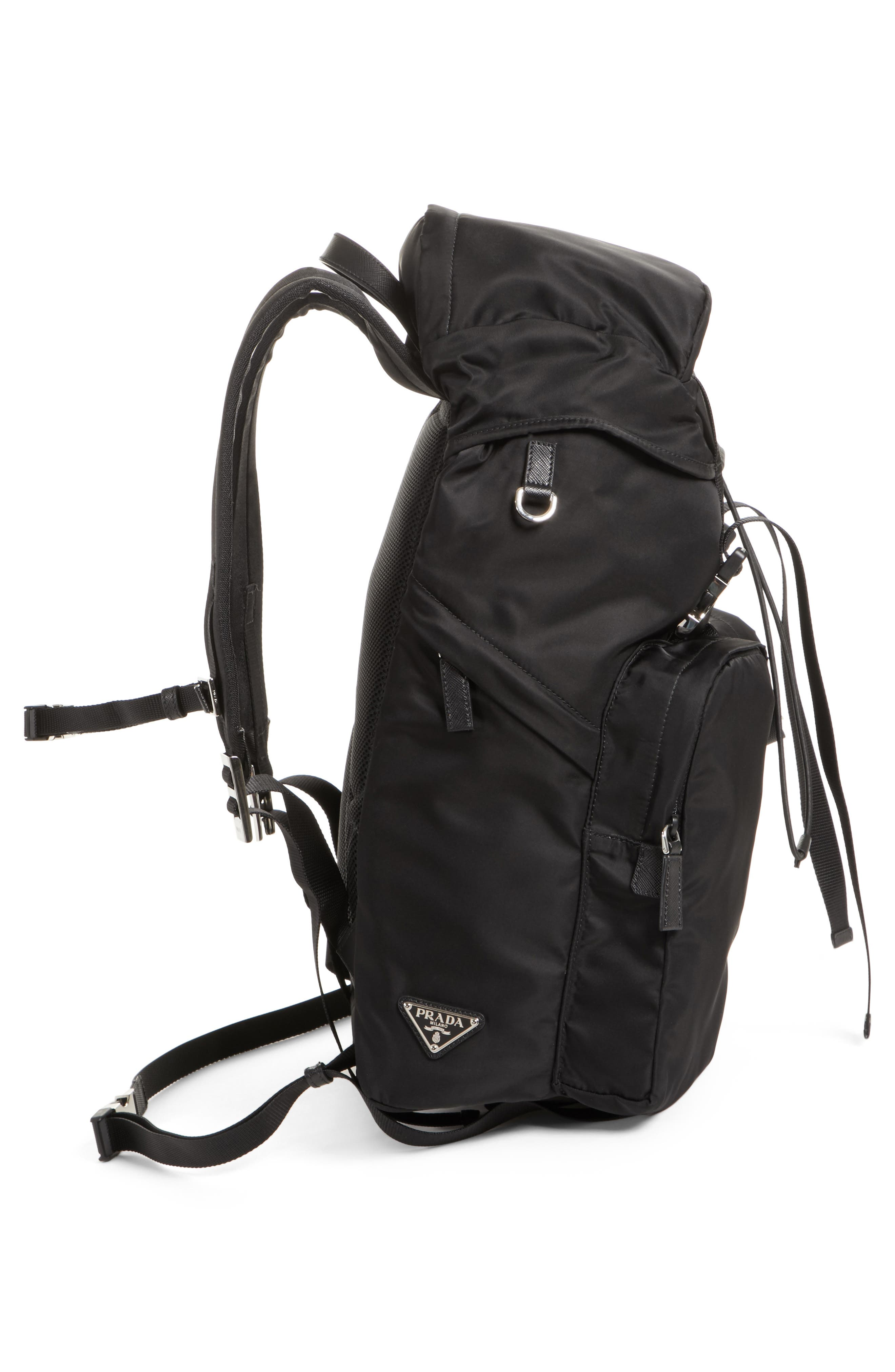 Montagna Flap Double Pocket Backpack,                             Alternate thumbnail 5, color,                             Nero