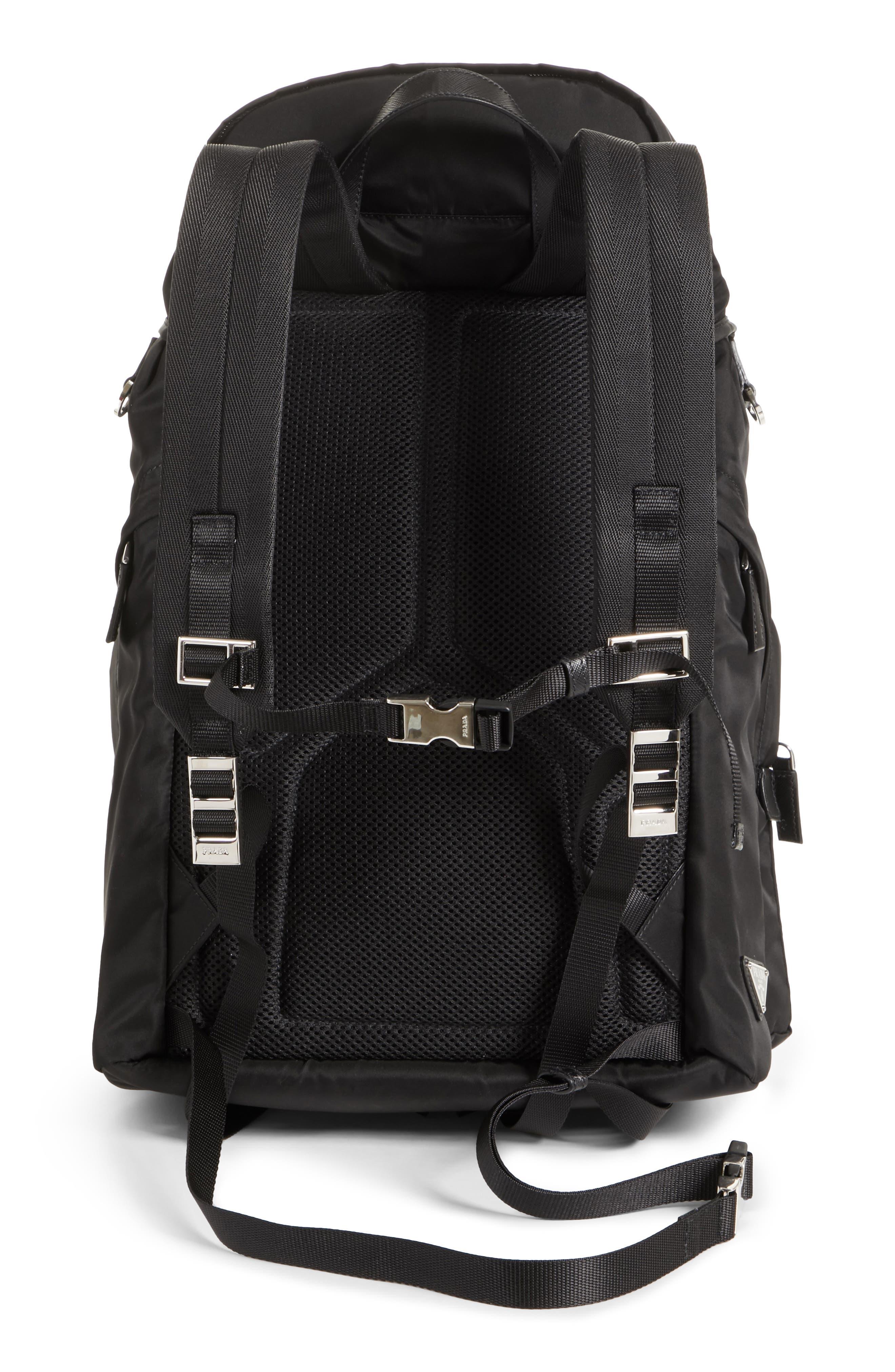 Montagna Flap Double Pocket Backpack,                             Alternate thumbnail 3, color,                             Nero