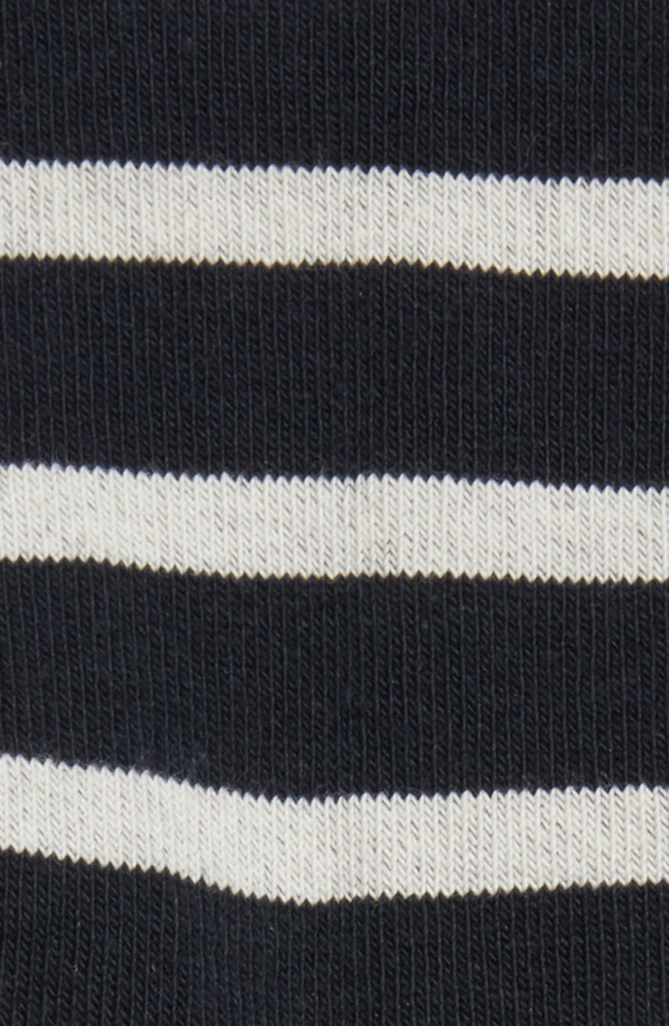 'Pieds Rayes A' Striped Socks,                             Alternate thumbnail 2, color,                             Navy/ White