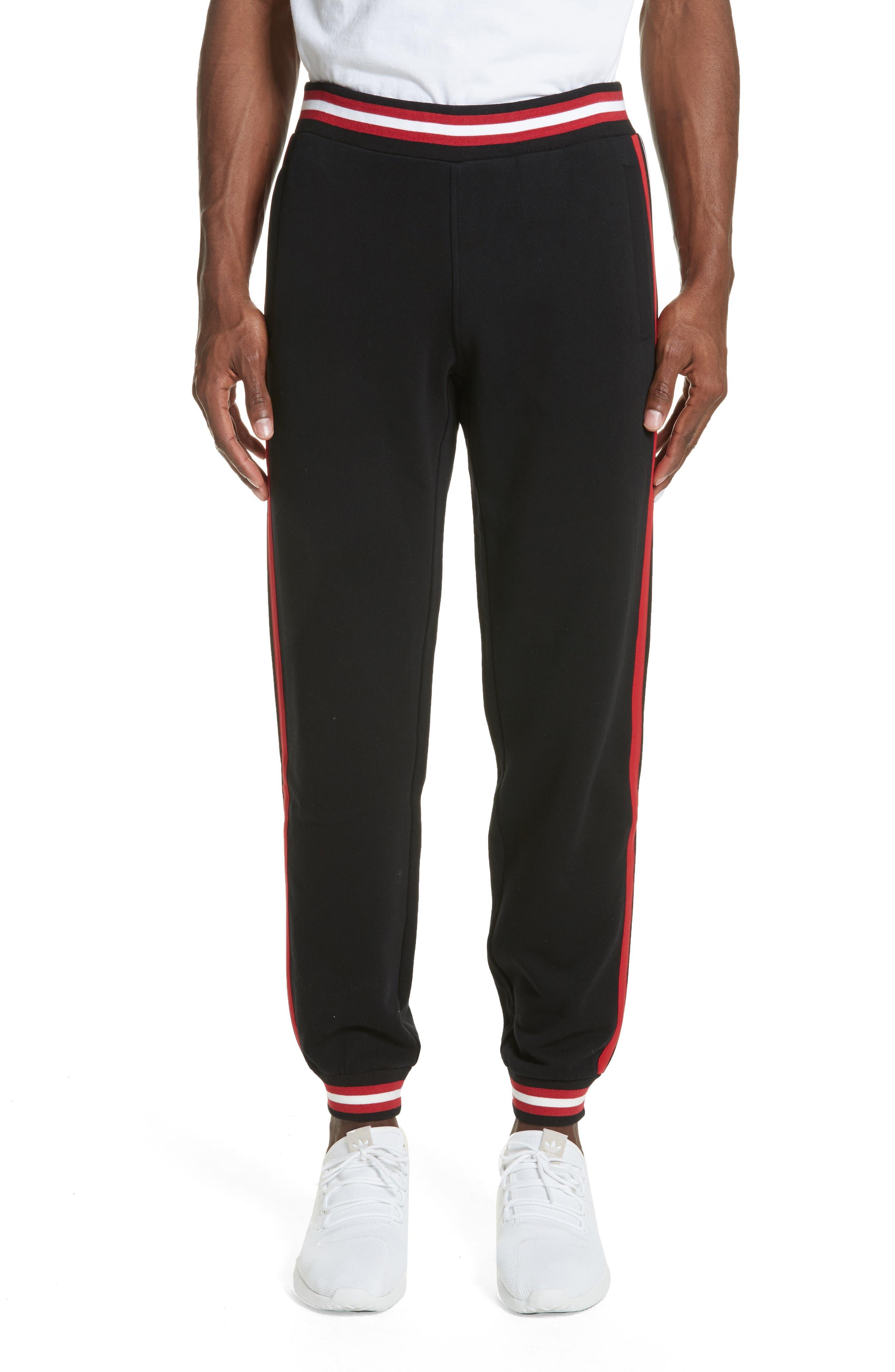Stripe Track Pants,                         Main,                         color, Black