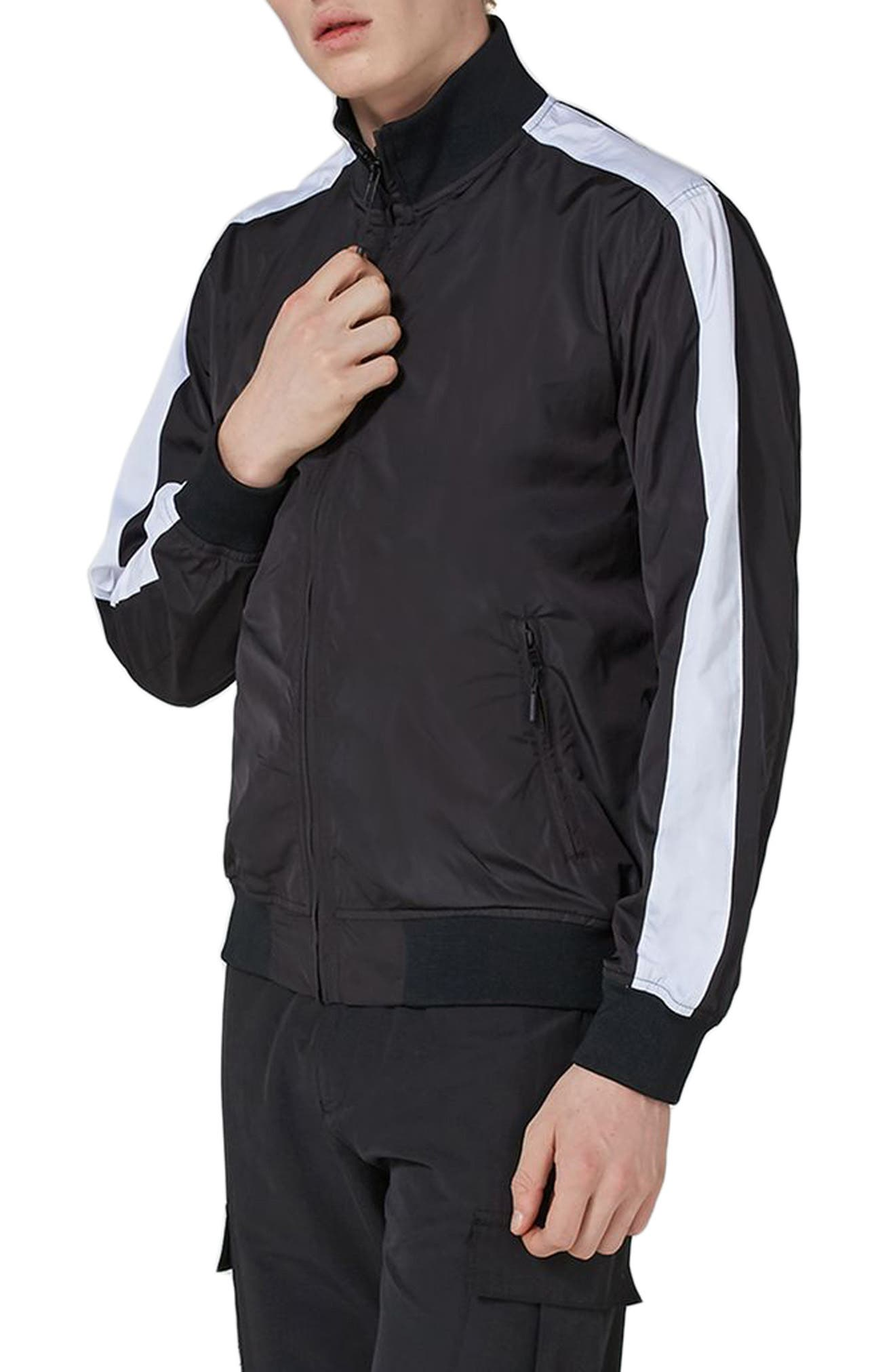 Sport Track Jacket,                             Main thumbnail 1, color,                             Black Multi
