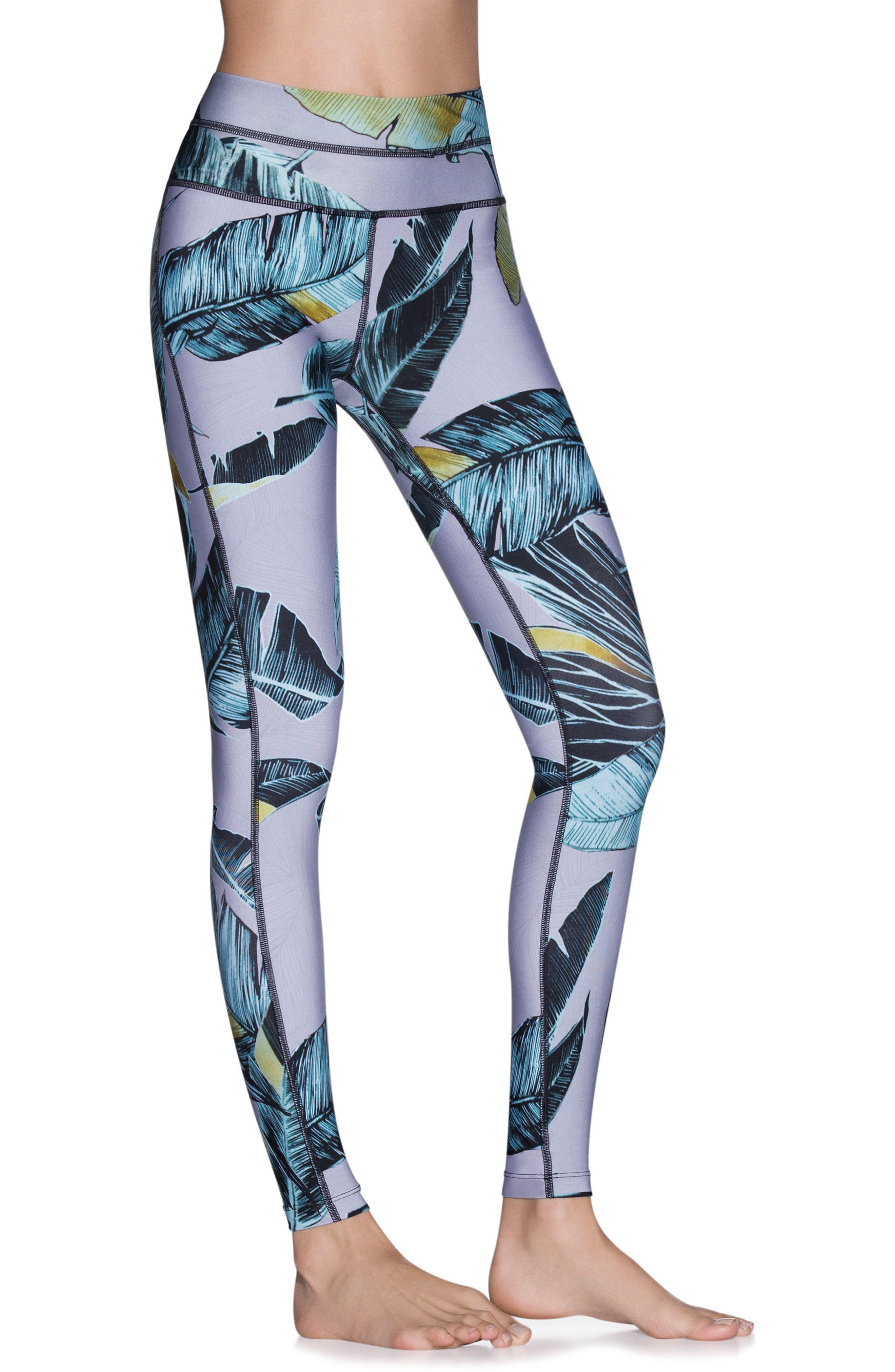 Dazzling Tropic Leggings,                             Main thumbnail 1, color,                             Multicolor