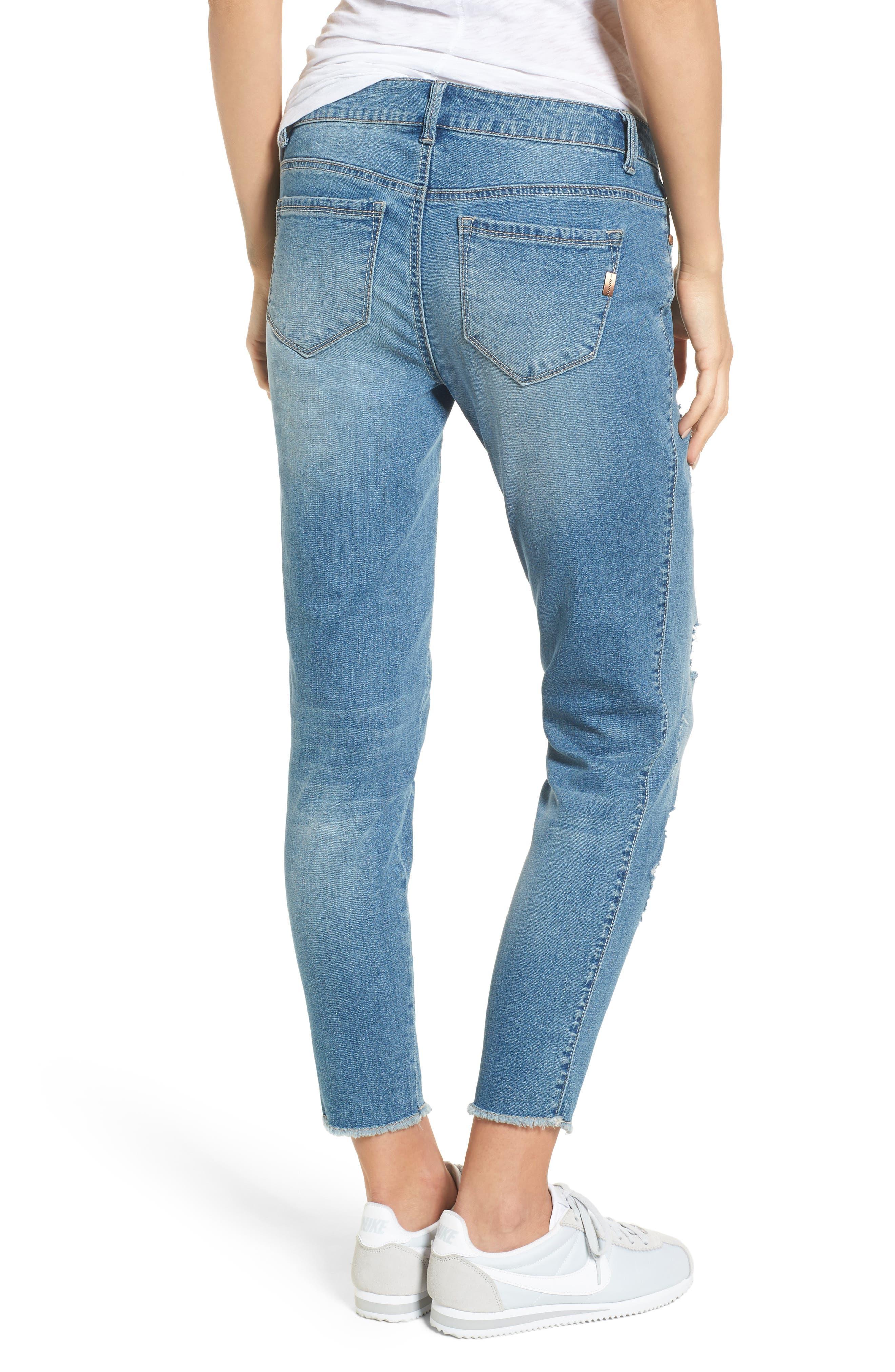 Rip & Repair Ankle Skinny Jeans,                             Alternate thumbnail 2, color,                             Pearl Jam