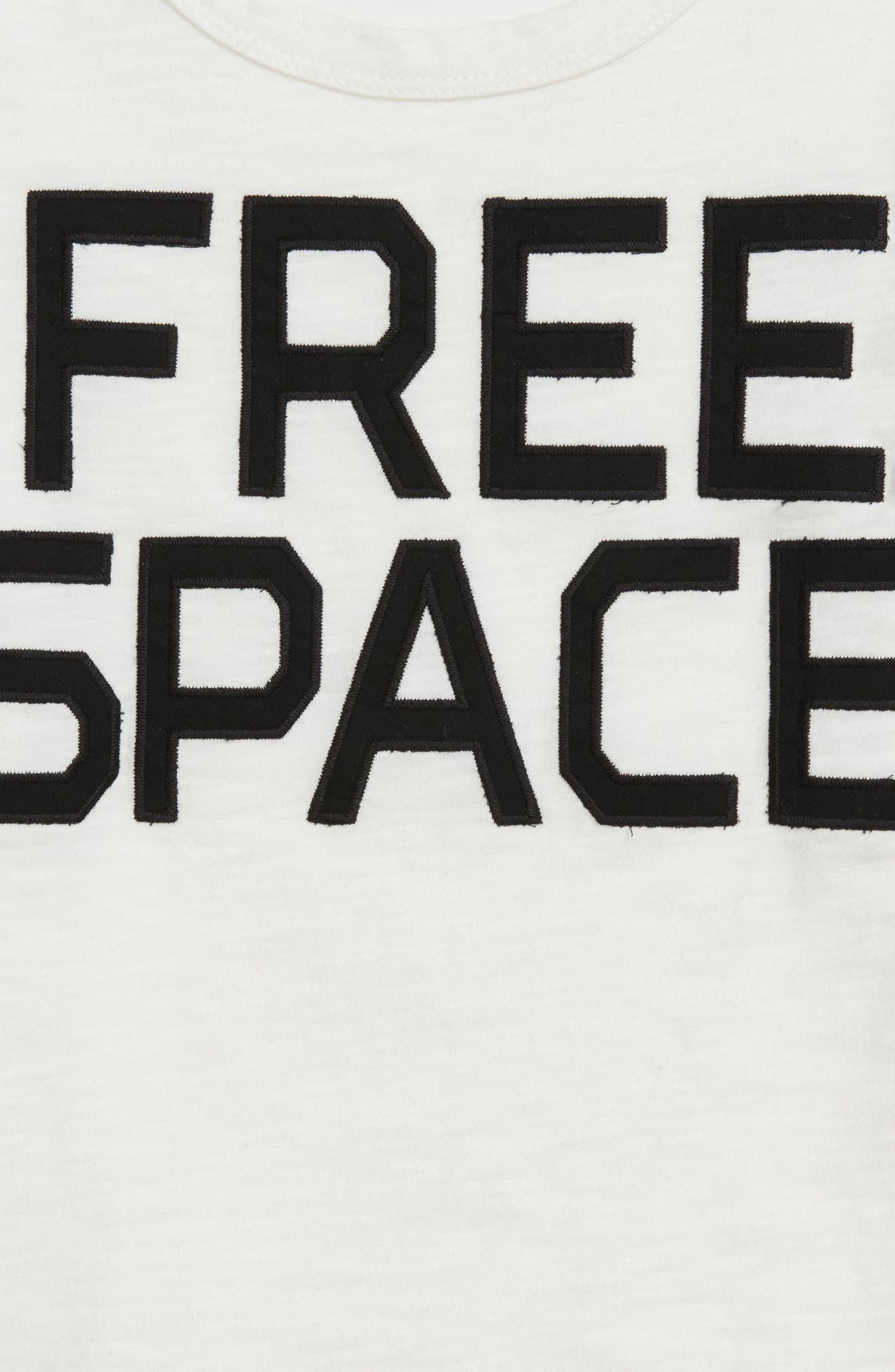 Free Space Appliqué T-Shirt,                             Alternate thumbnail 4, color,                             White Free Space