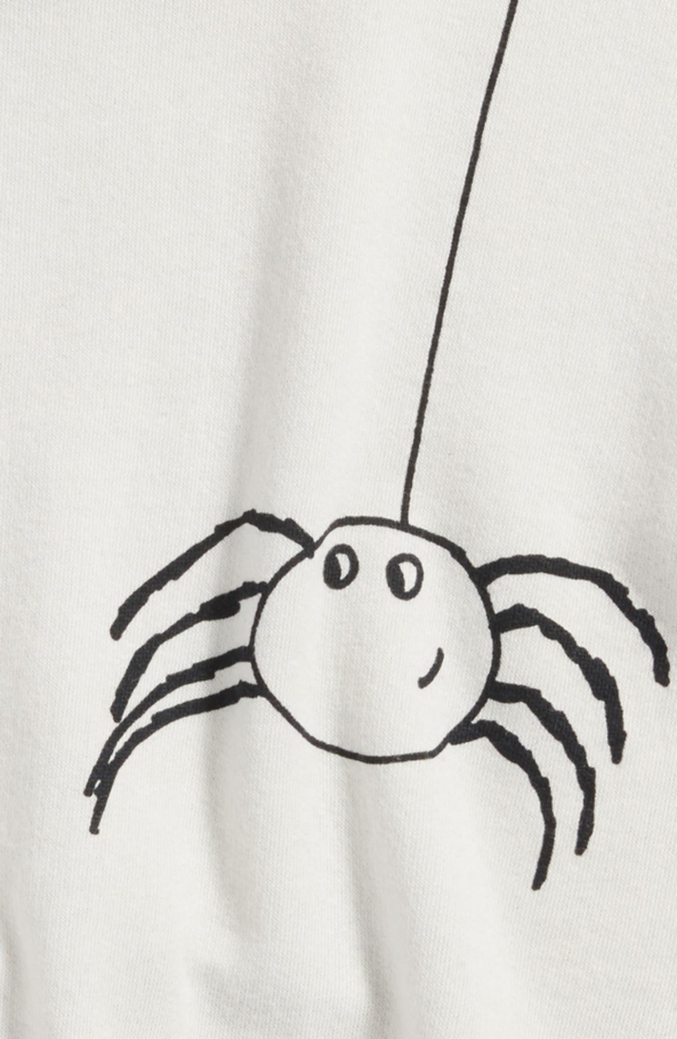 Graphic Sweatshirt,                             Alternate thumbnail 5, color,                             Grey Lunar Spider