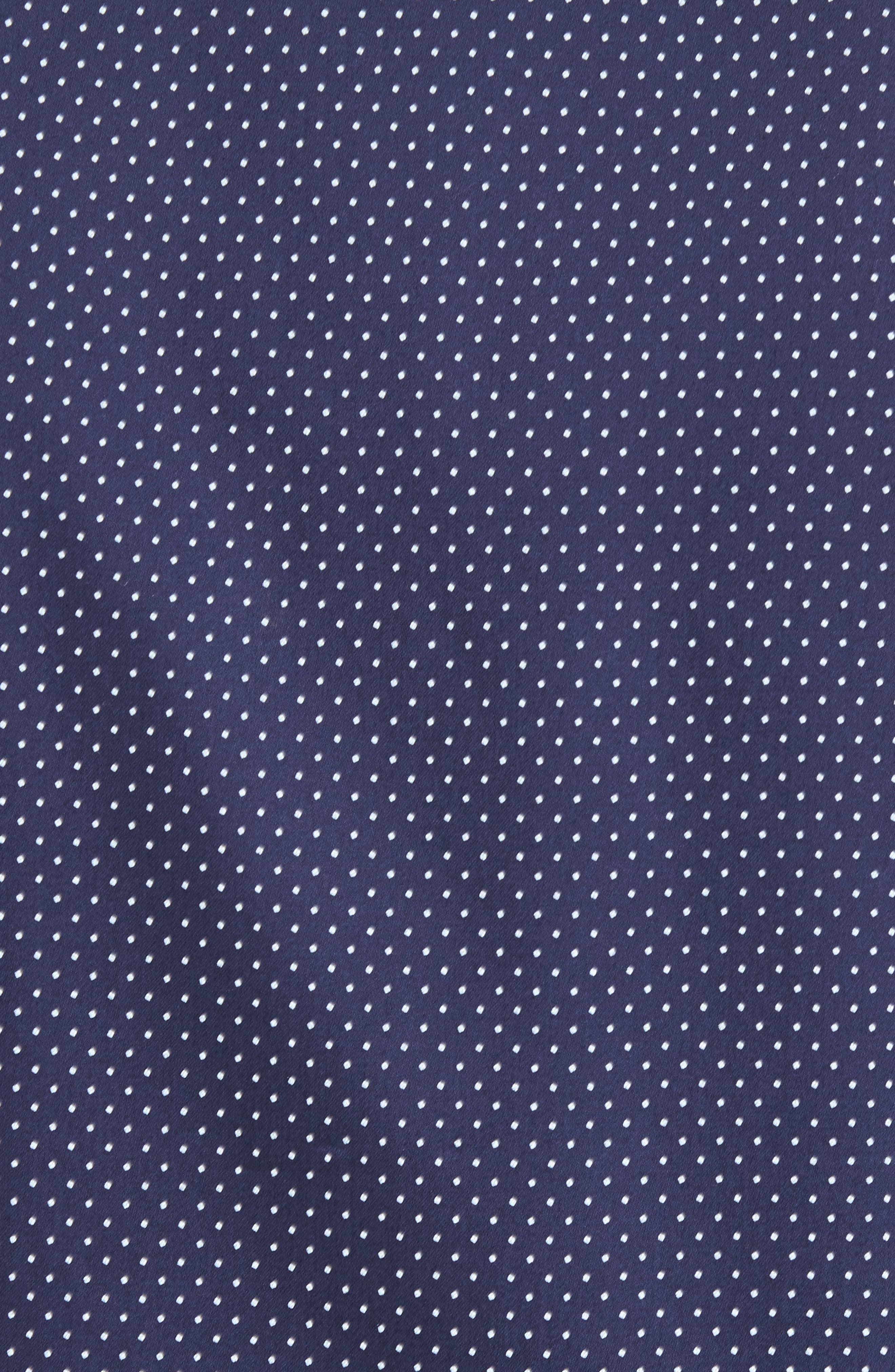 Skwere Trim Fit Sport Shirt,                             Alternate thumbnail 6, color,                             Navy