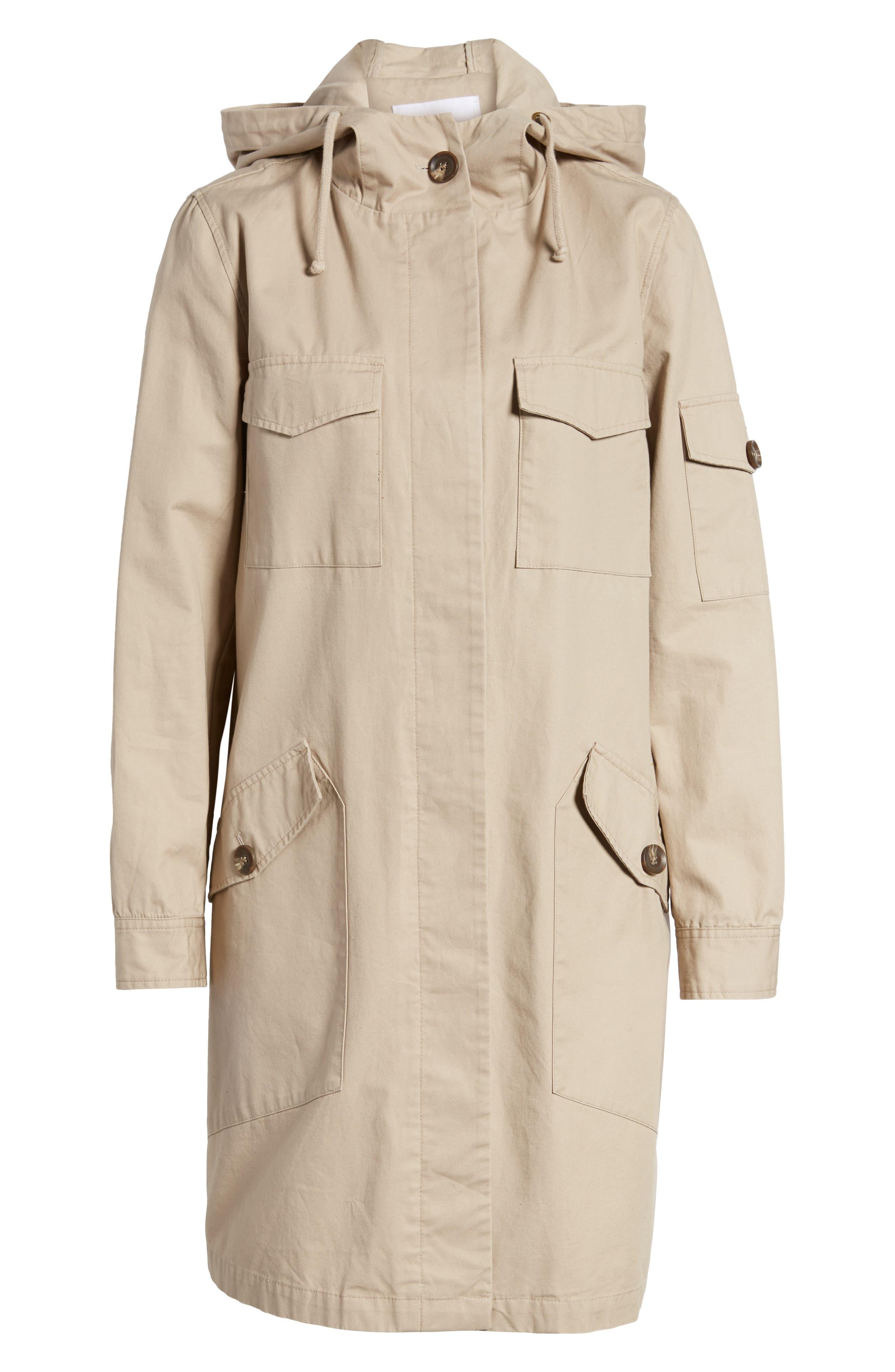Noah Cotton Twill Coat,                             Alternate thumbnail 6, color,                             Cobblestone