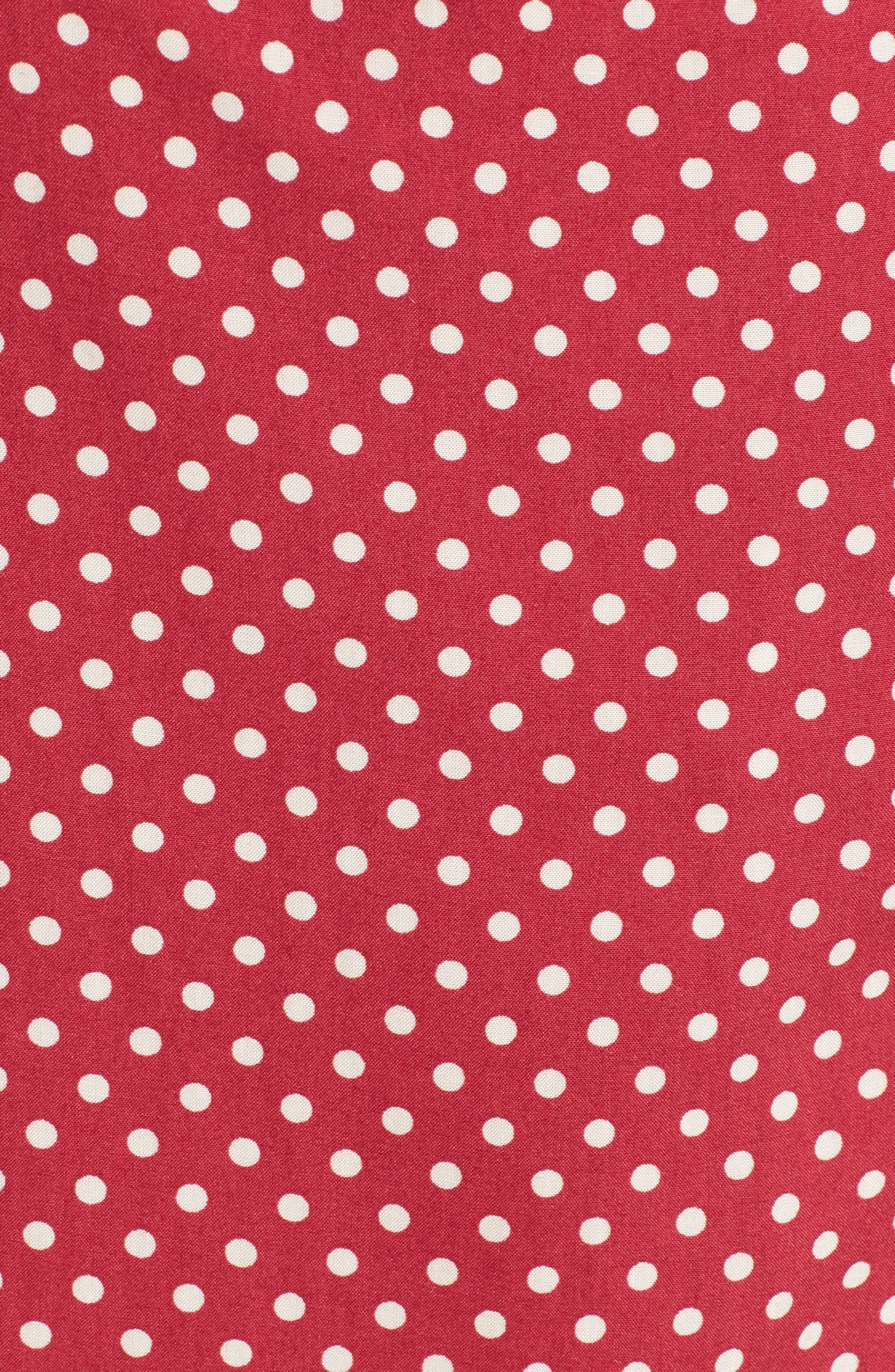 Fearless Polka Dot Wrap Dress,                             Alternate thumbnail 6, color,                             Multi Red