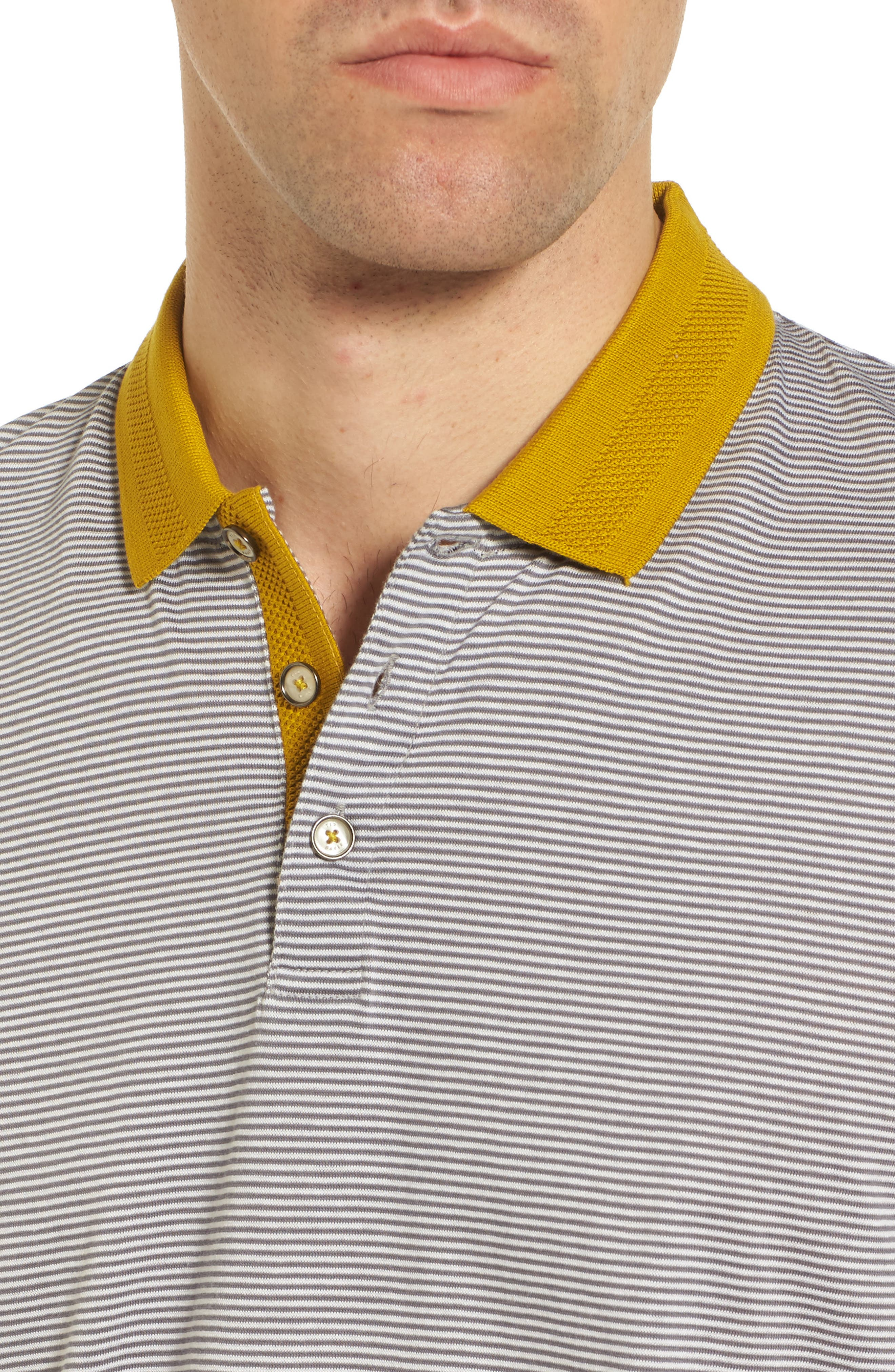 Alternate Image 4  - Ted Baker London Beagle Trim Fit Stripe Jersey Polo