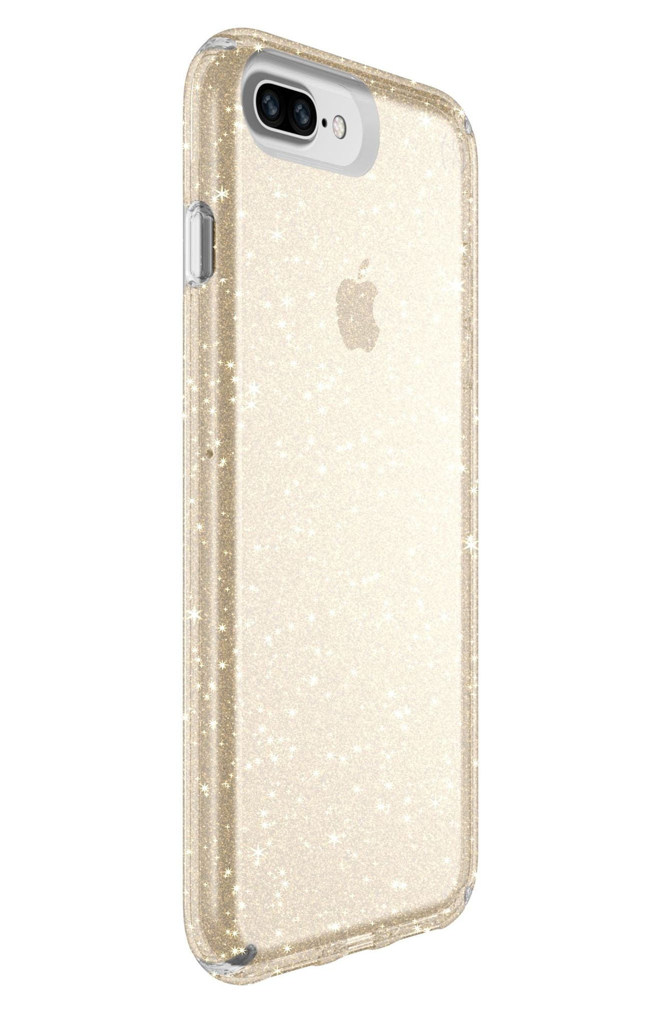 iPhone 6/6s/7/8 Plus Case,                             Alternate thumbnail 2, color,                             Clear With Gold Glitter/ Clear