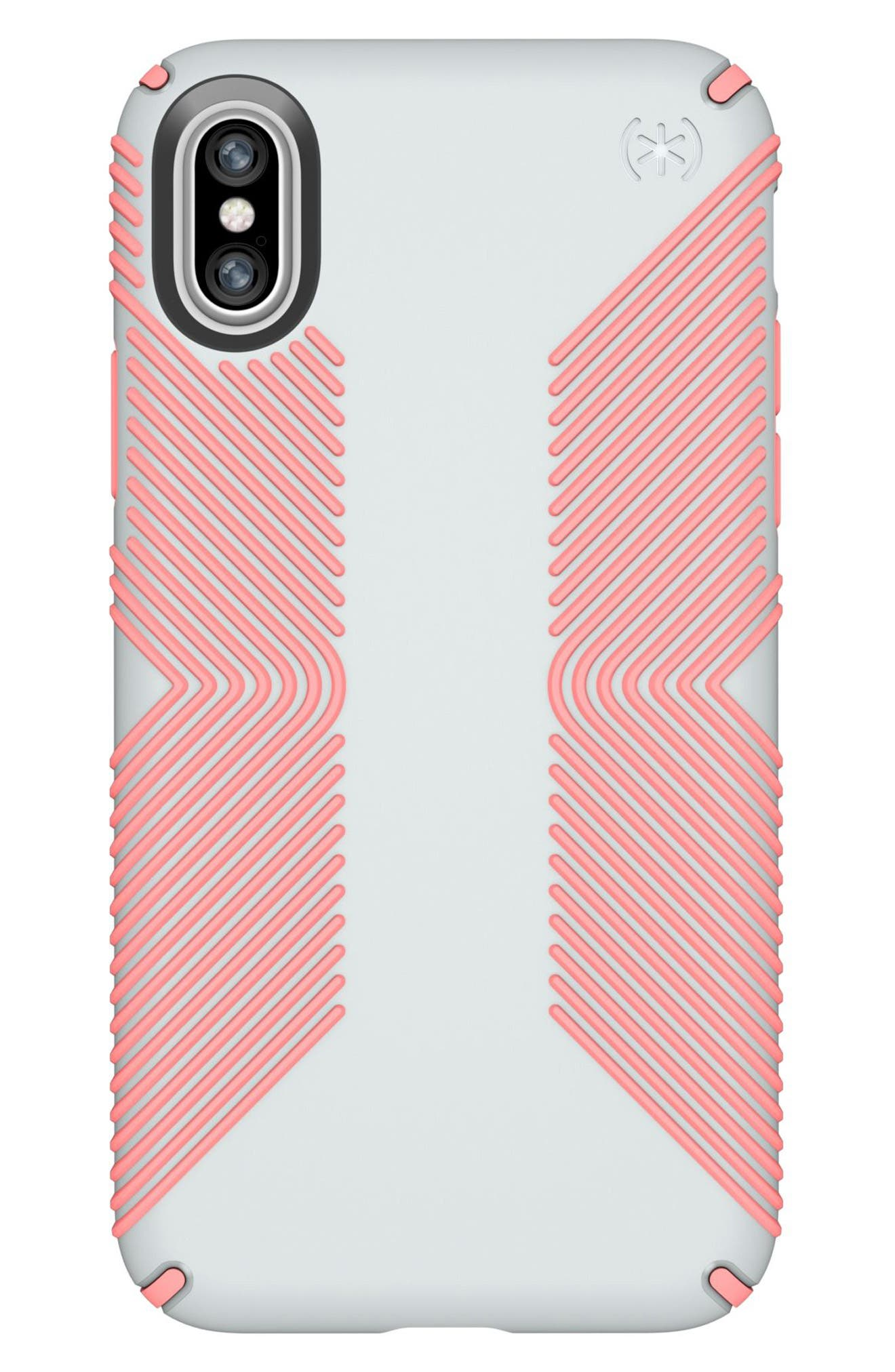iPhone X Case,                             Main thumbnail 1, color,                             Dove Grey/ Tart Pink