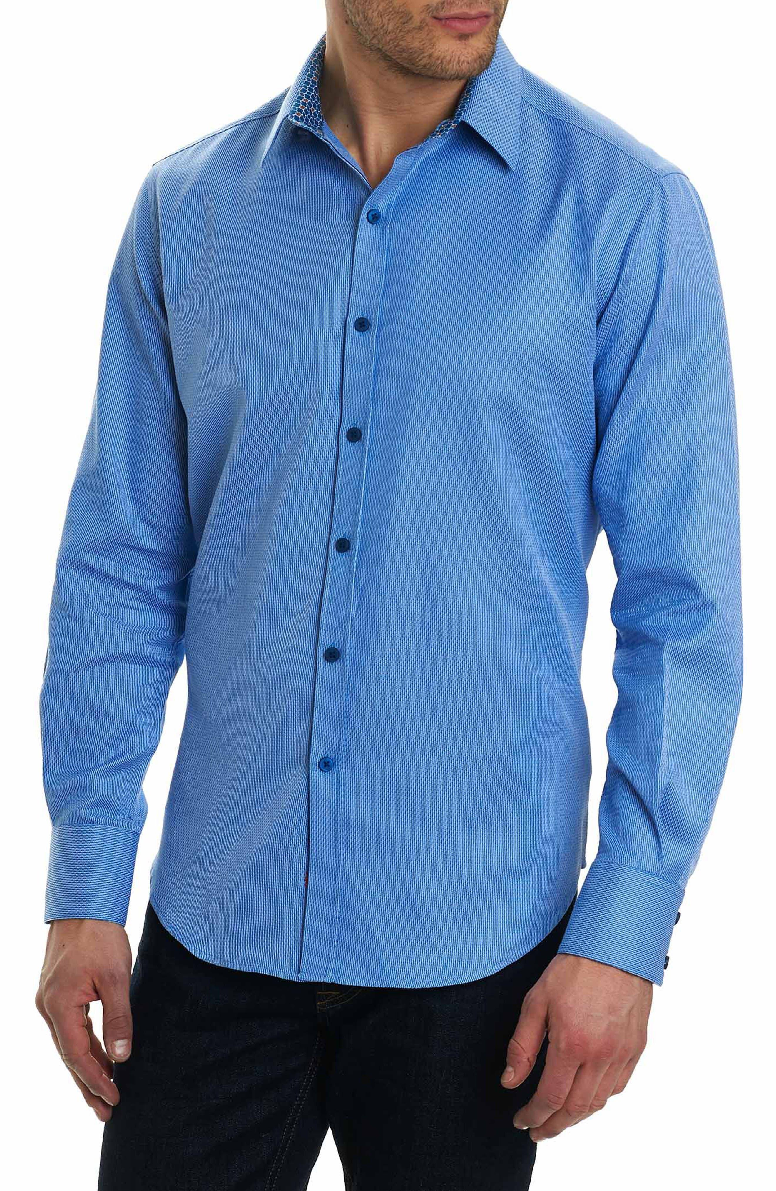 Jobson Classic Fit Sport Shirt,                         Main,                         color, Blue