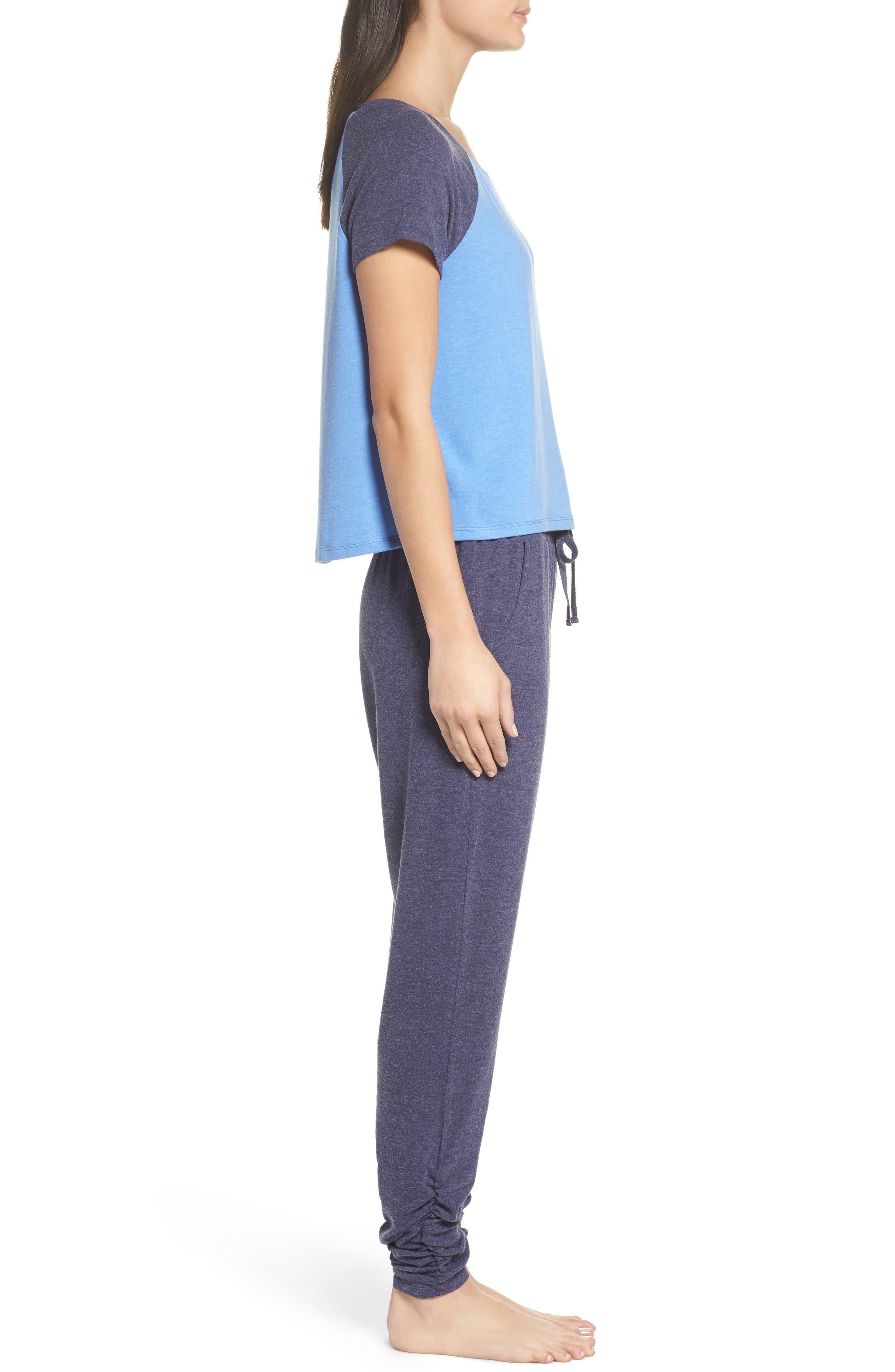 Cloud 9 Pajamas,                             Alternate thumbnail 3, color,                             Blue Azurite