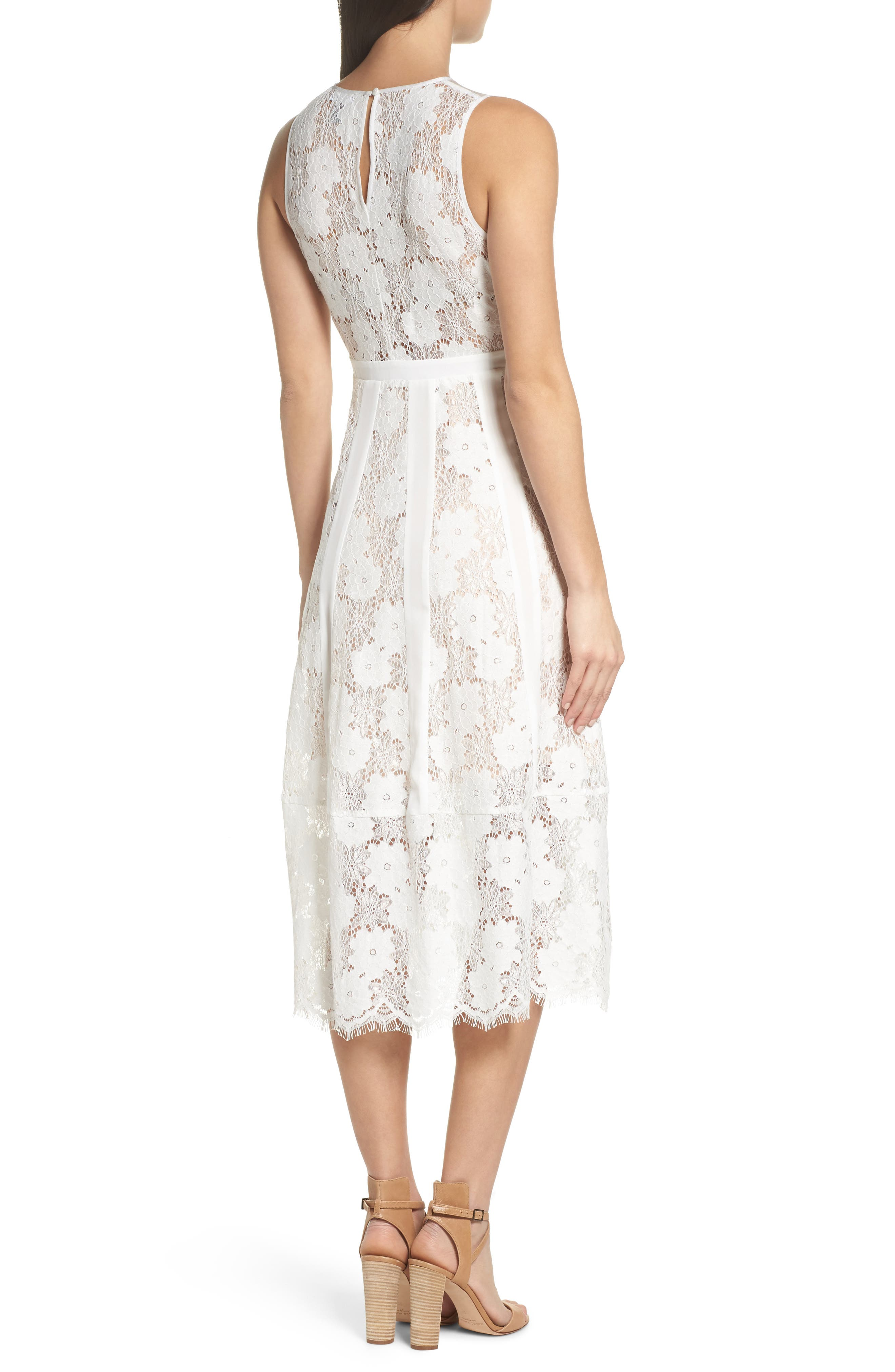 Alternate Image 2  - Chelsea28 Lace Midi Dress