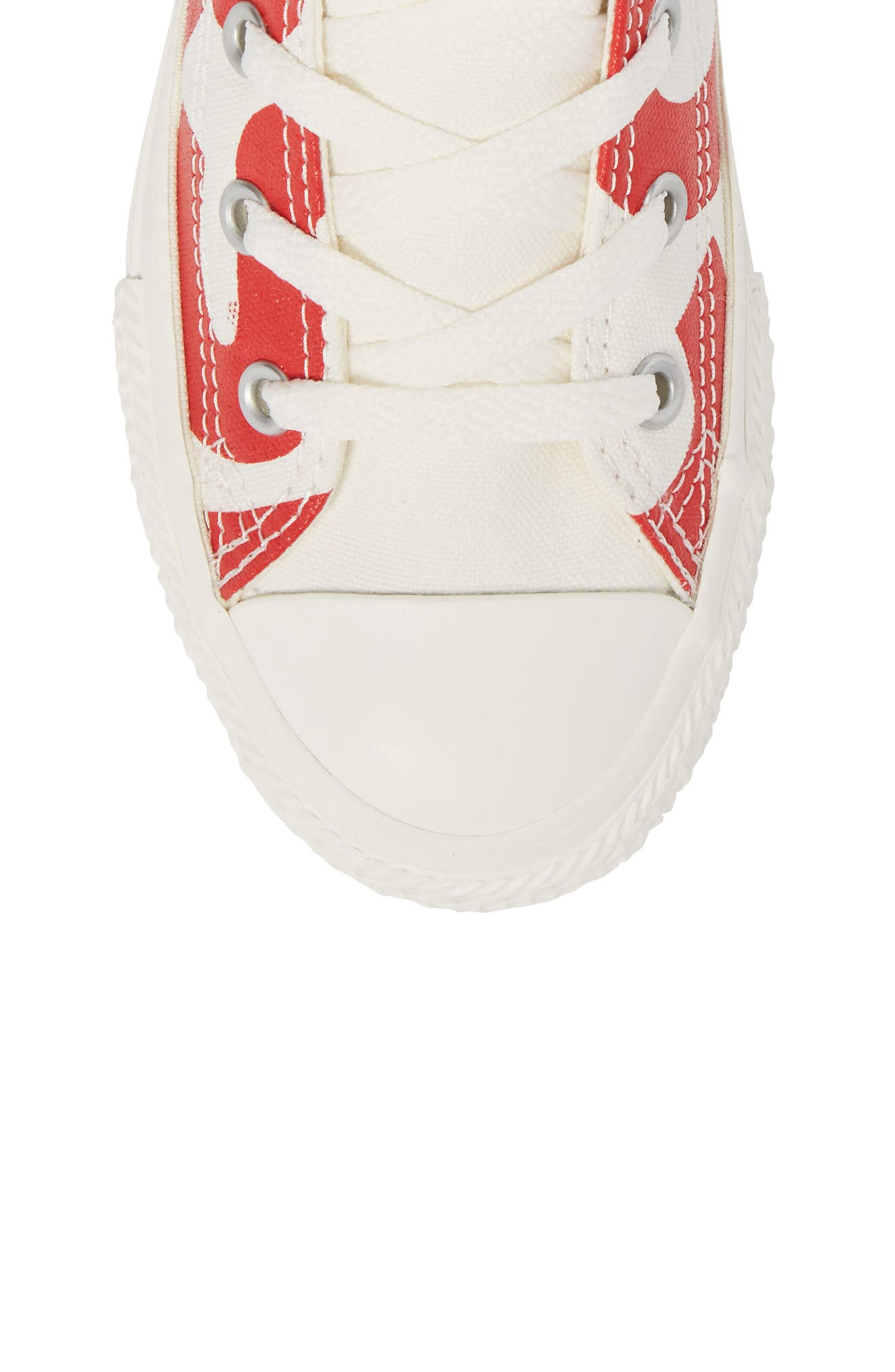 Chuck Taylor<sup>®</sup> All Star<sup>®</sup> Wordmark Hi Sneaker,                             Alternate thumbnail 5, color,                             Enamel Red