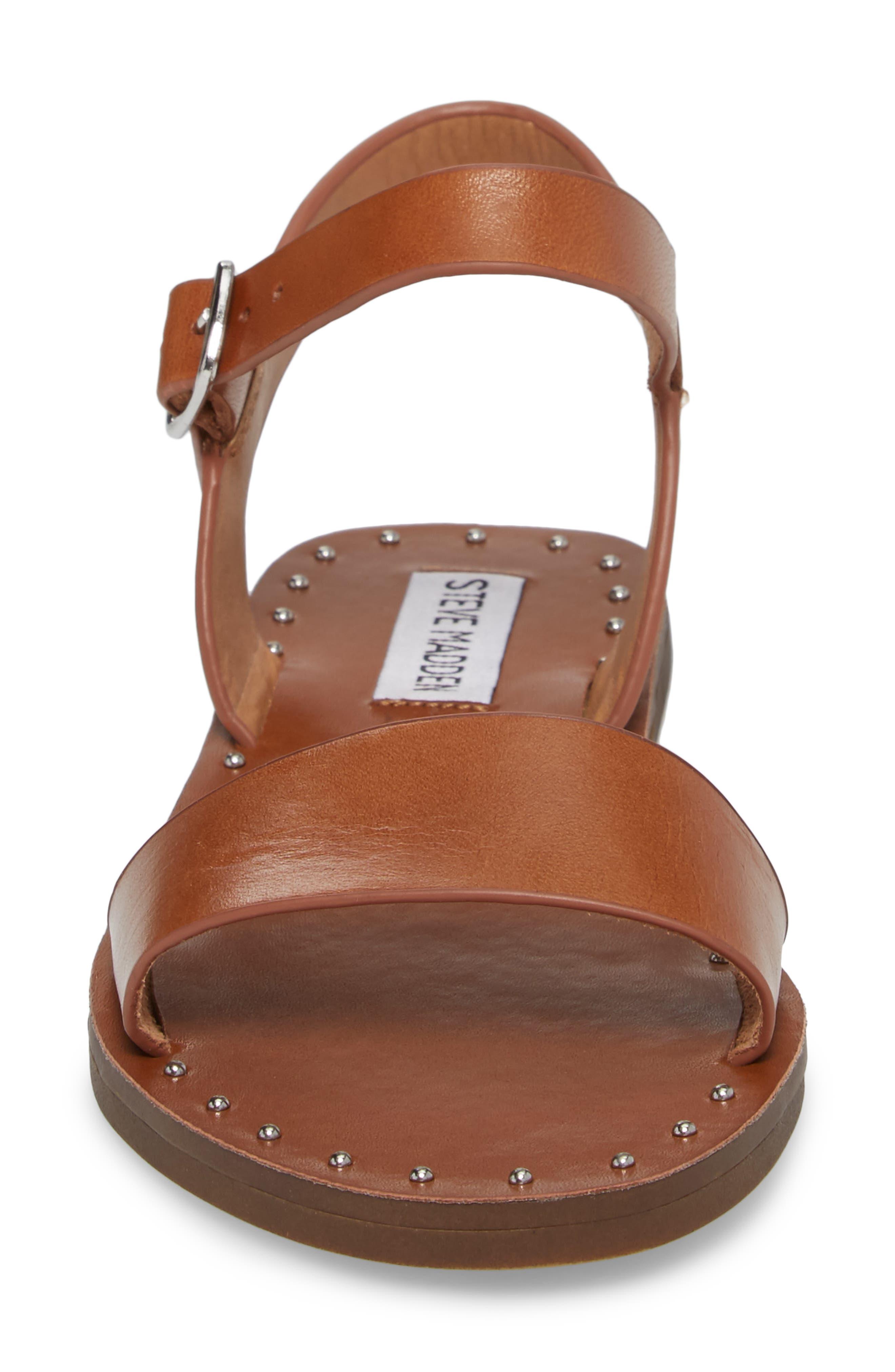 Dupe Sandal,                             Alternate thumbnail 4, color,                             Cognac Leather