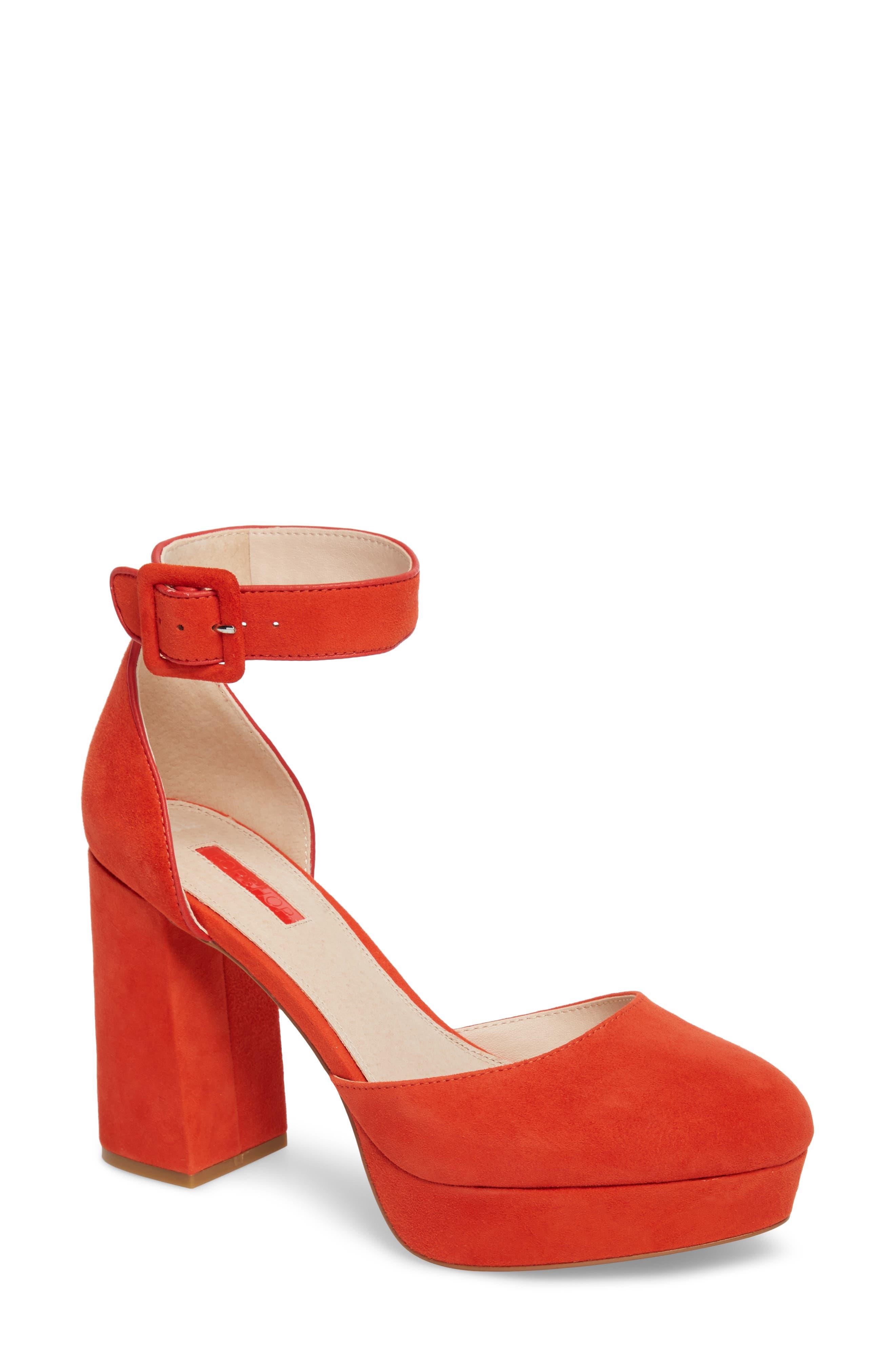 Topshop Ankle Strap Platform Sandal (Women)
