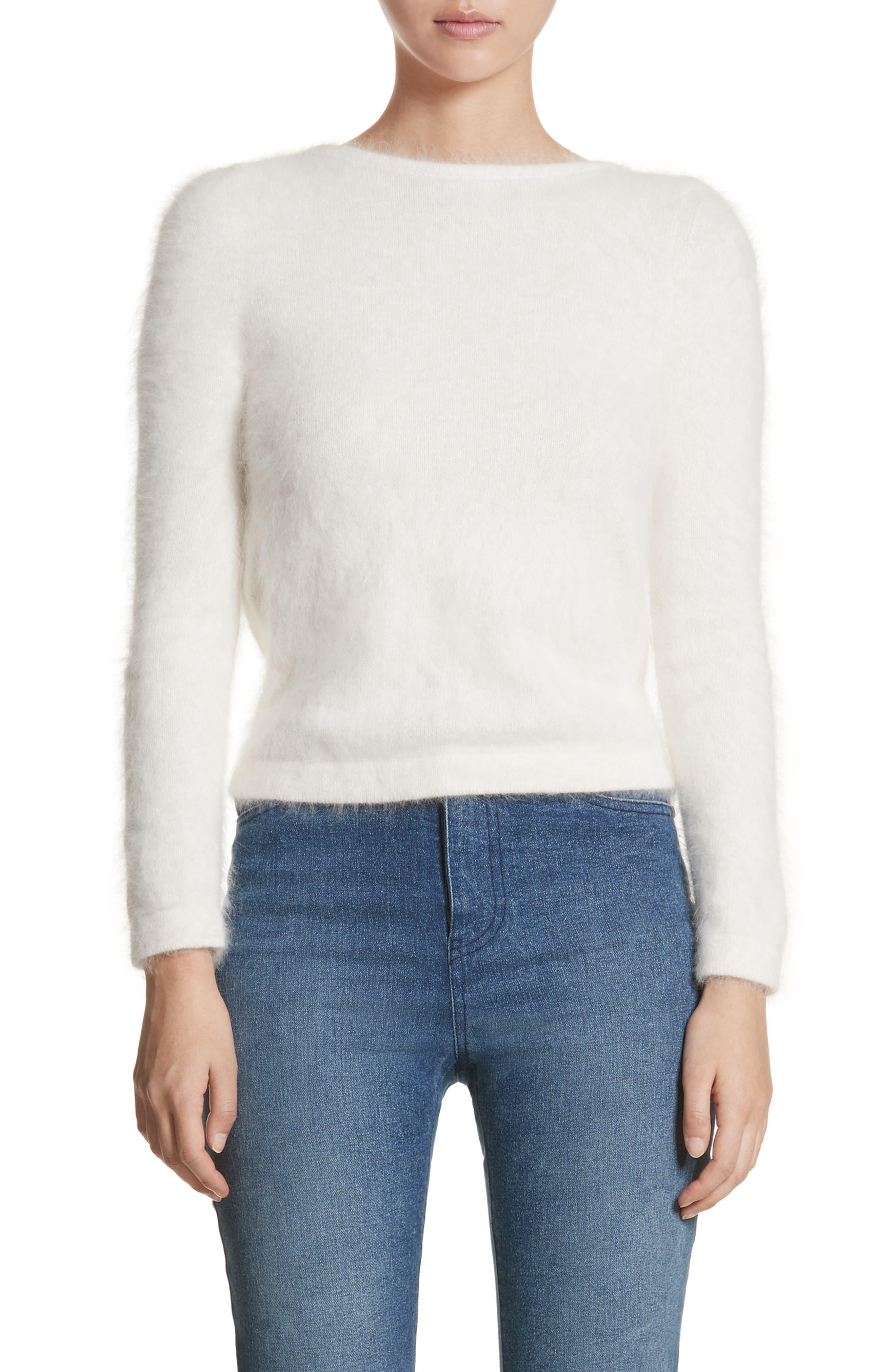 Alternate Image 1 Selected - Brandon Maxwell Drape Back Angora Blend Sweater