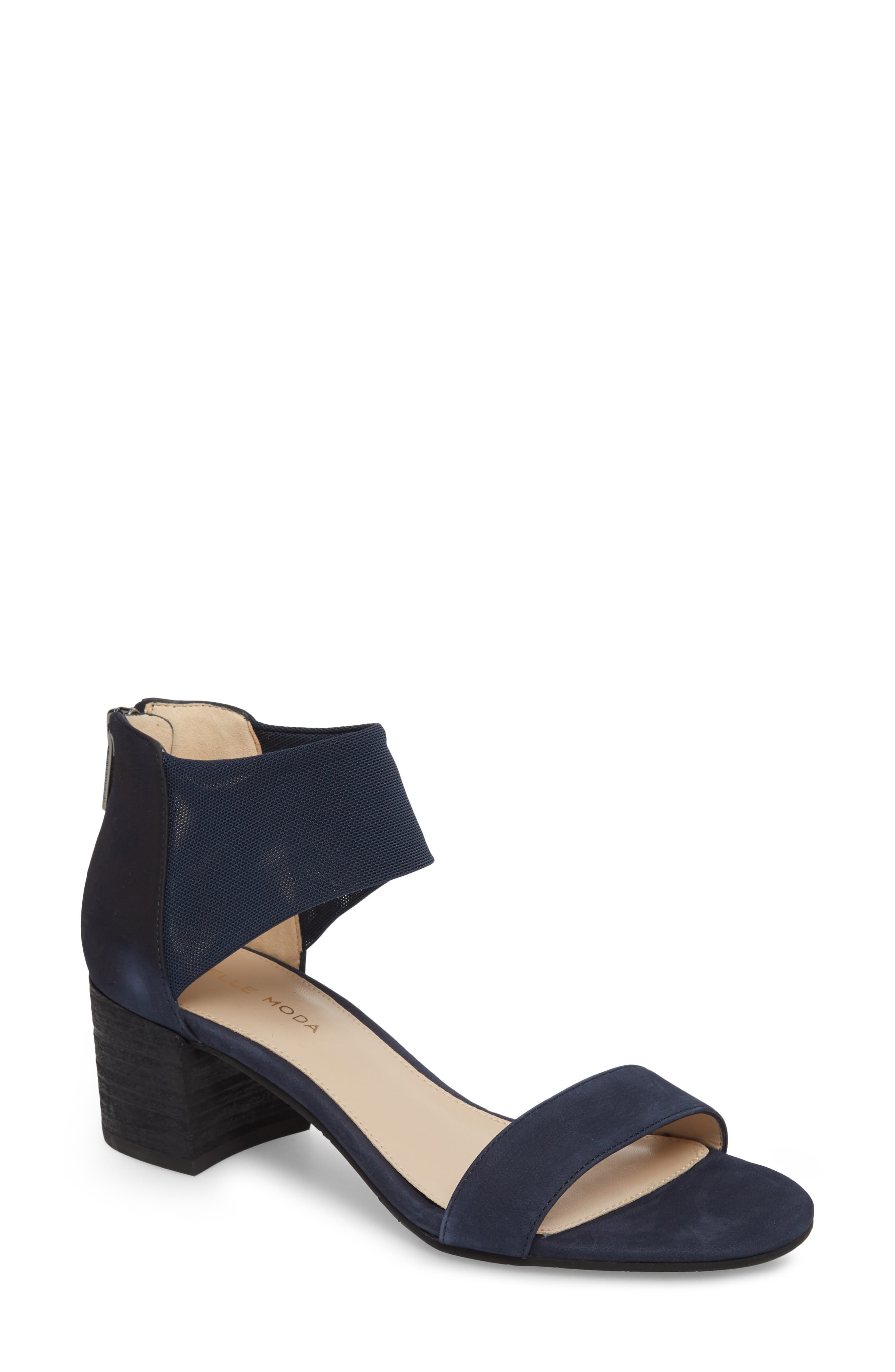 Alden Mesh Strap Sandal,                         Main,                         color, Midnight Nubuck Leather