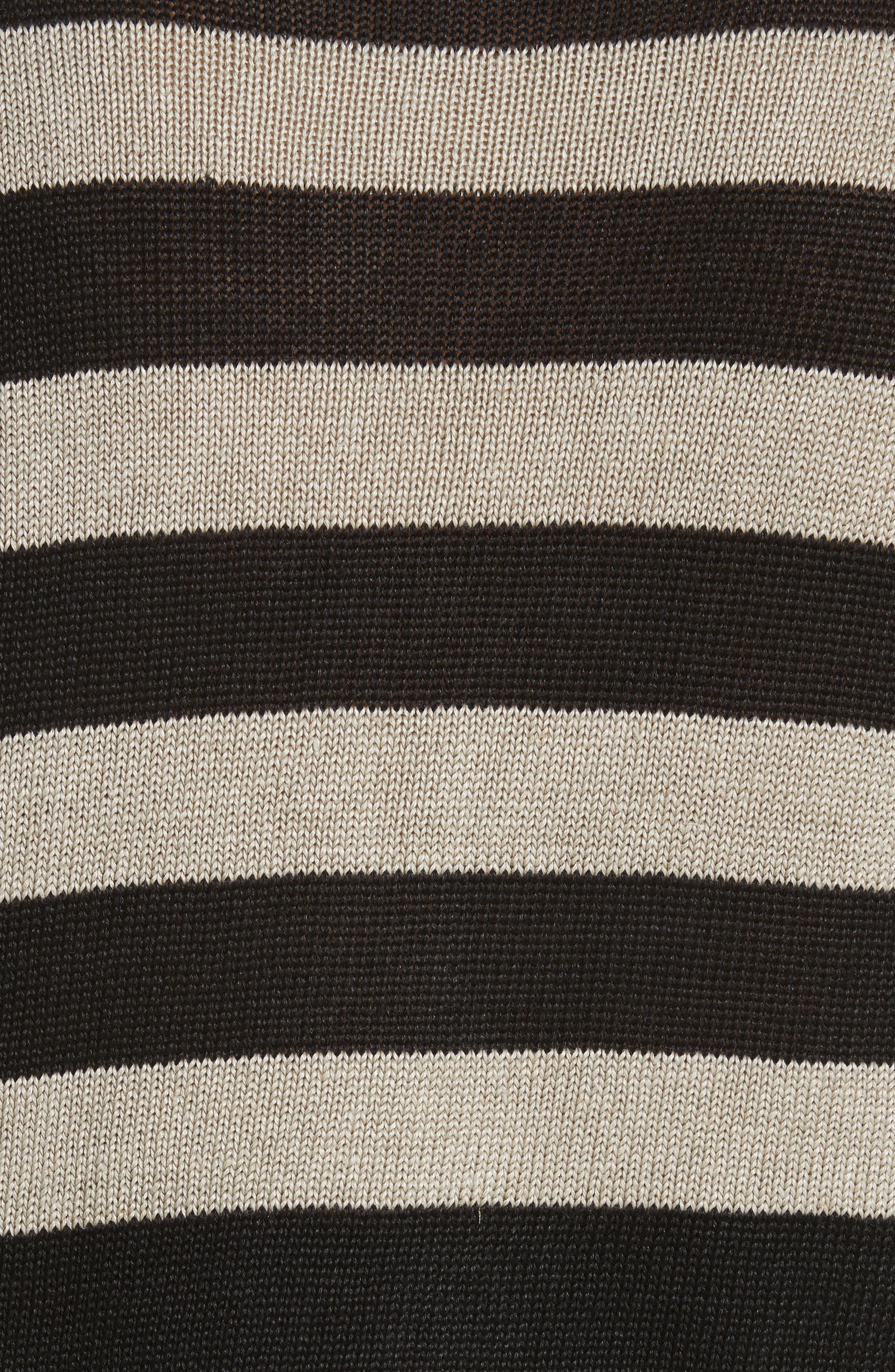 Filly Stripe Linen Sweater,                             Alternate thumbnail 6, color,                             Sand