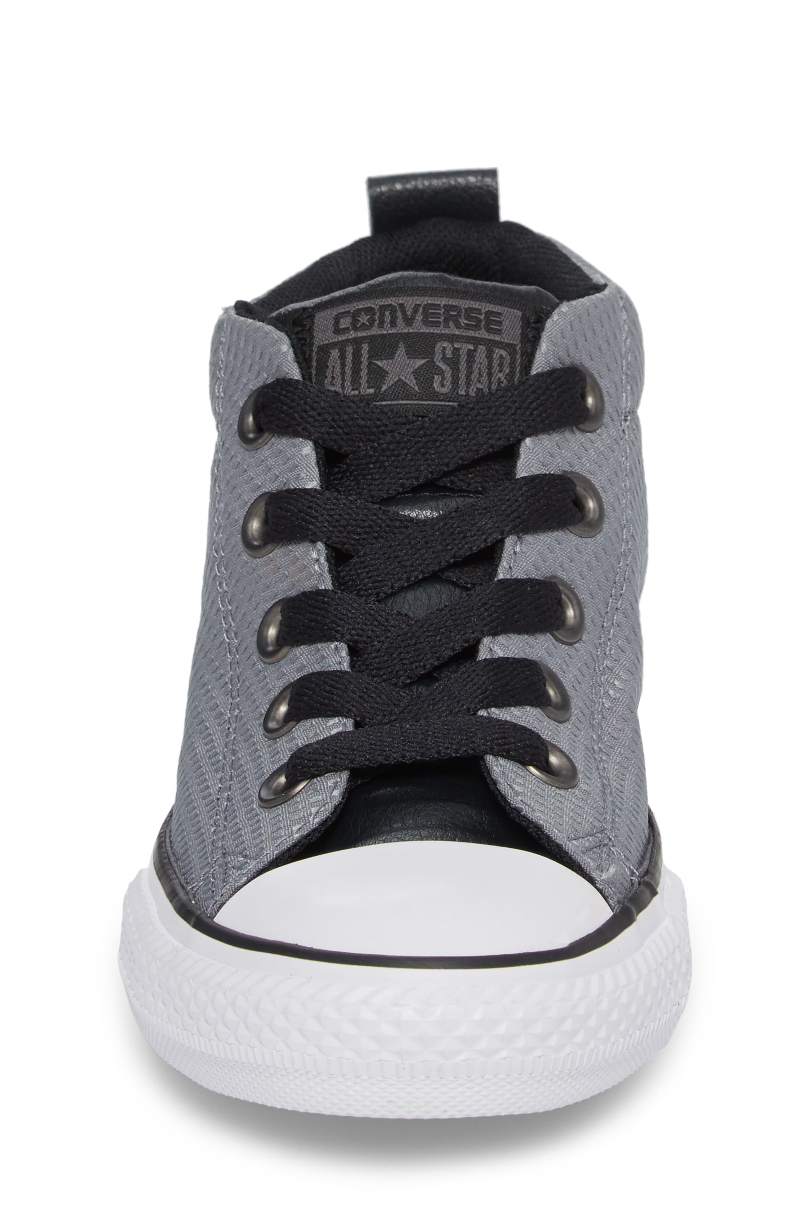 Chuck Taylor<sup>®</sup> All Star<sup>®</sup> Street Mid Backpack Sneaker,                             Alternate thumbnail 4, color,                             Cool Grey