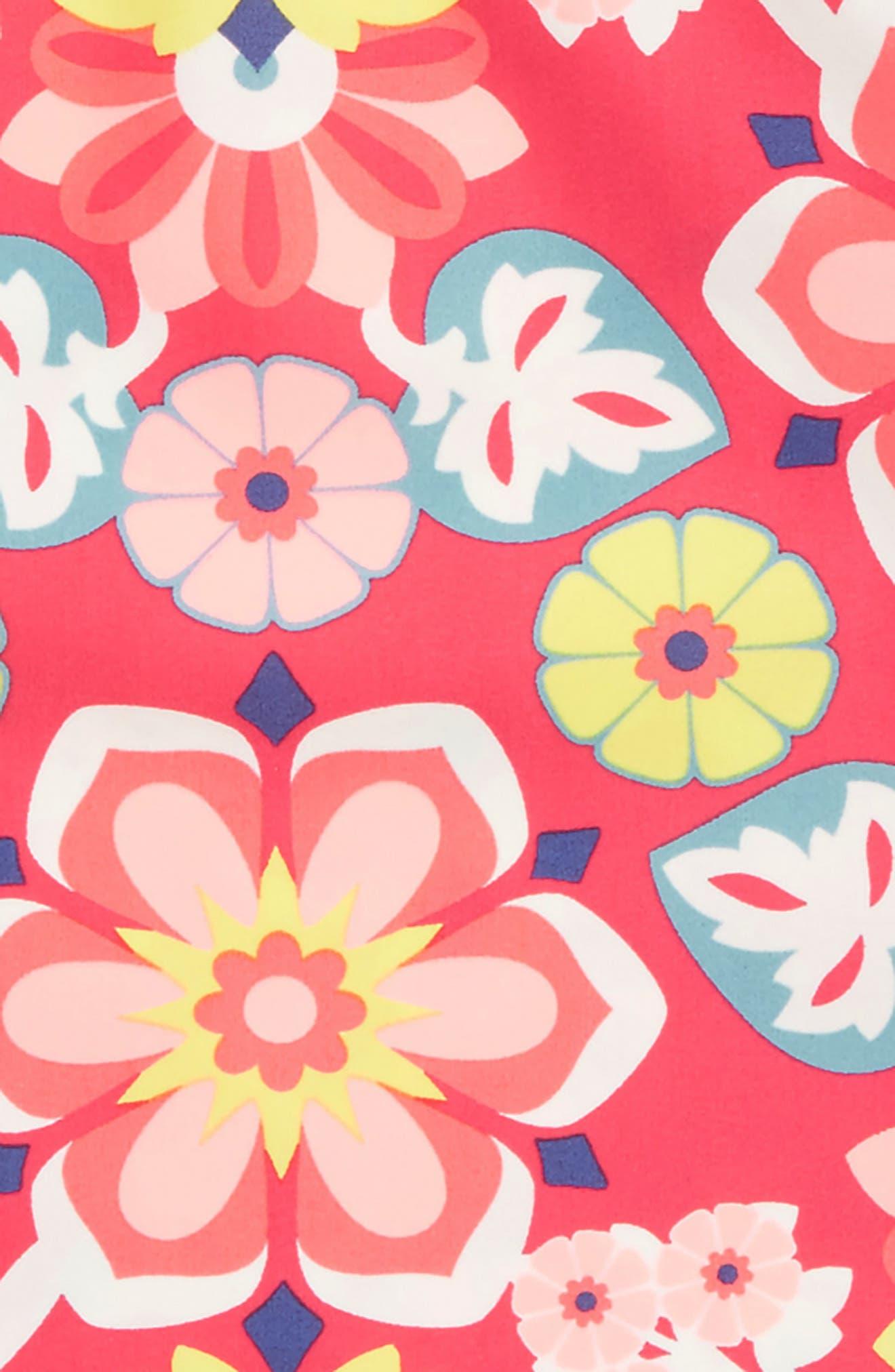 Flora Rashguard Top,                             Alternate thumbnail 2, color,                             Cherry