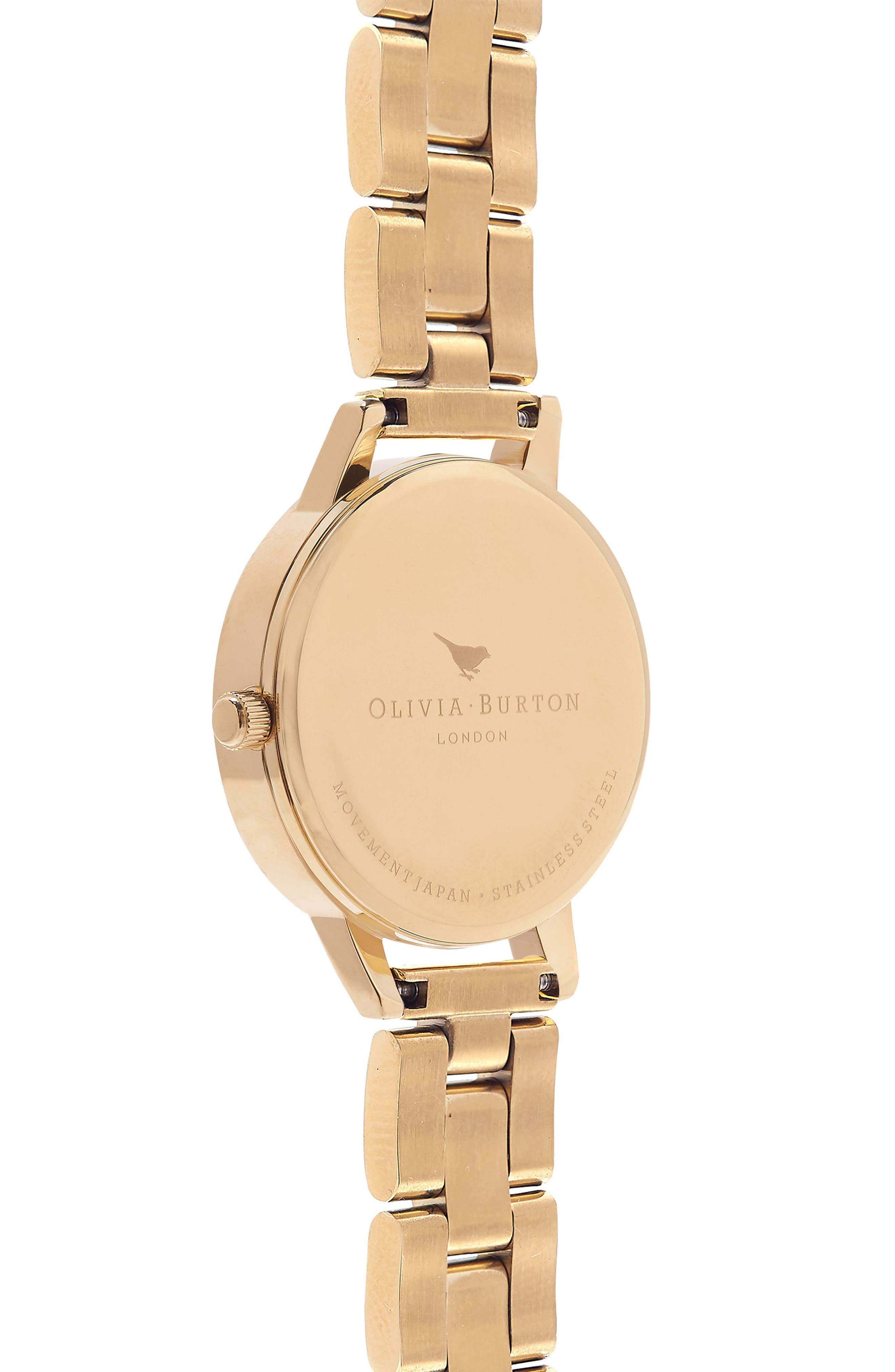 Winter Garden Bracelet Watch, 30mm,                             Alternate thumbnail 2, color,                             Gold/ Grey Floral/ Gold