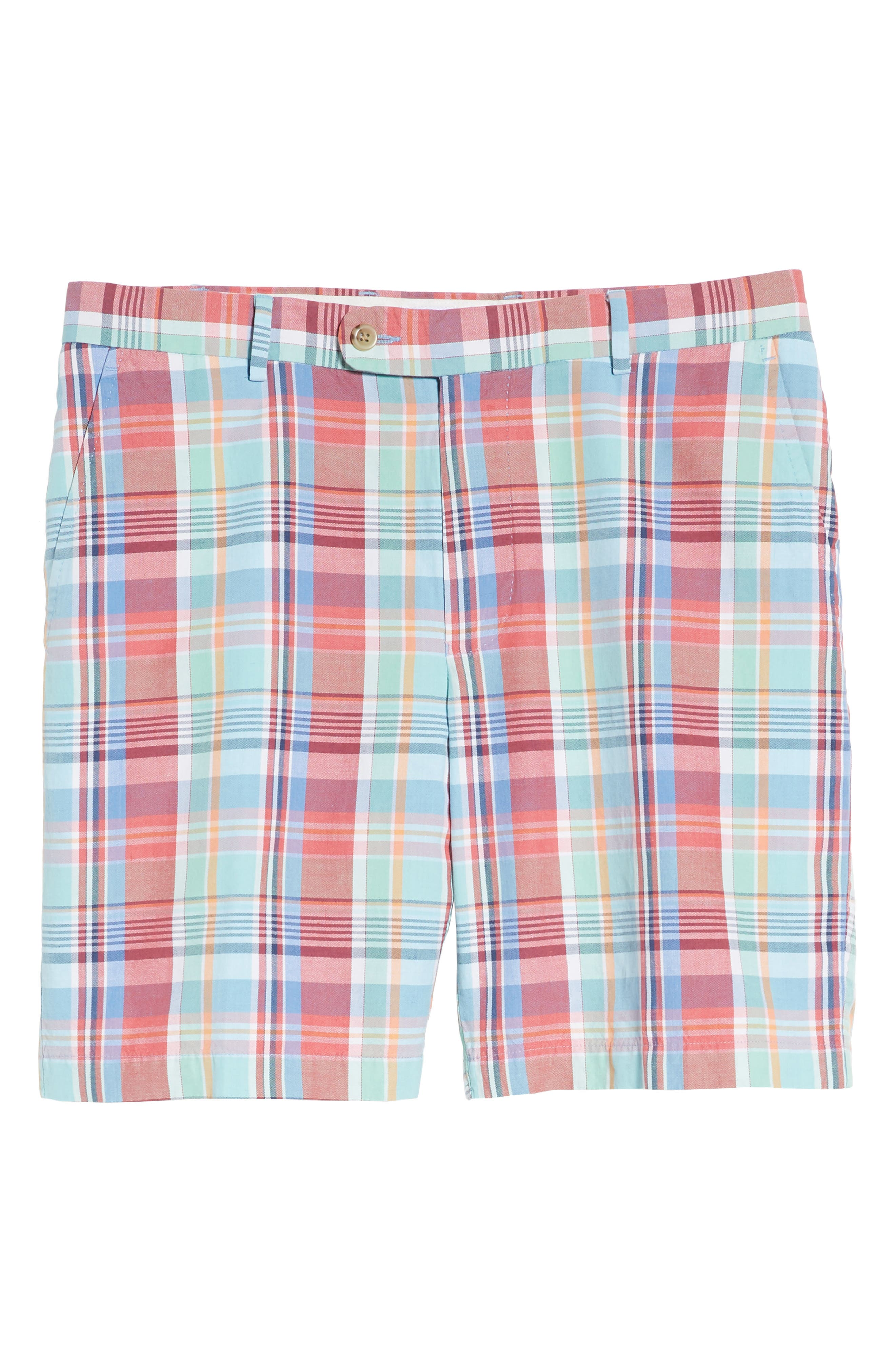 Seaside Madras Plaid Shorts,                             Alternate thumbnail 6, color,                             Cape Red