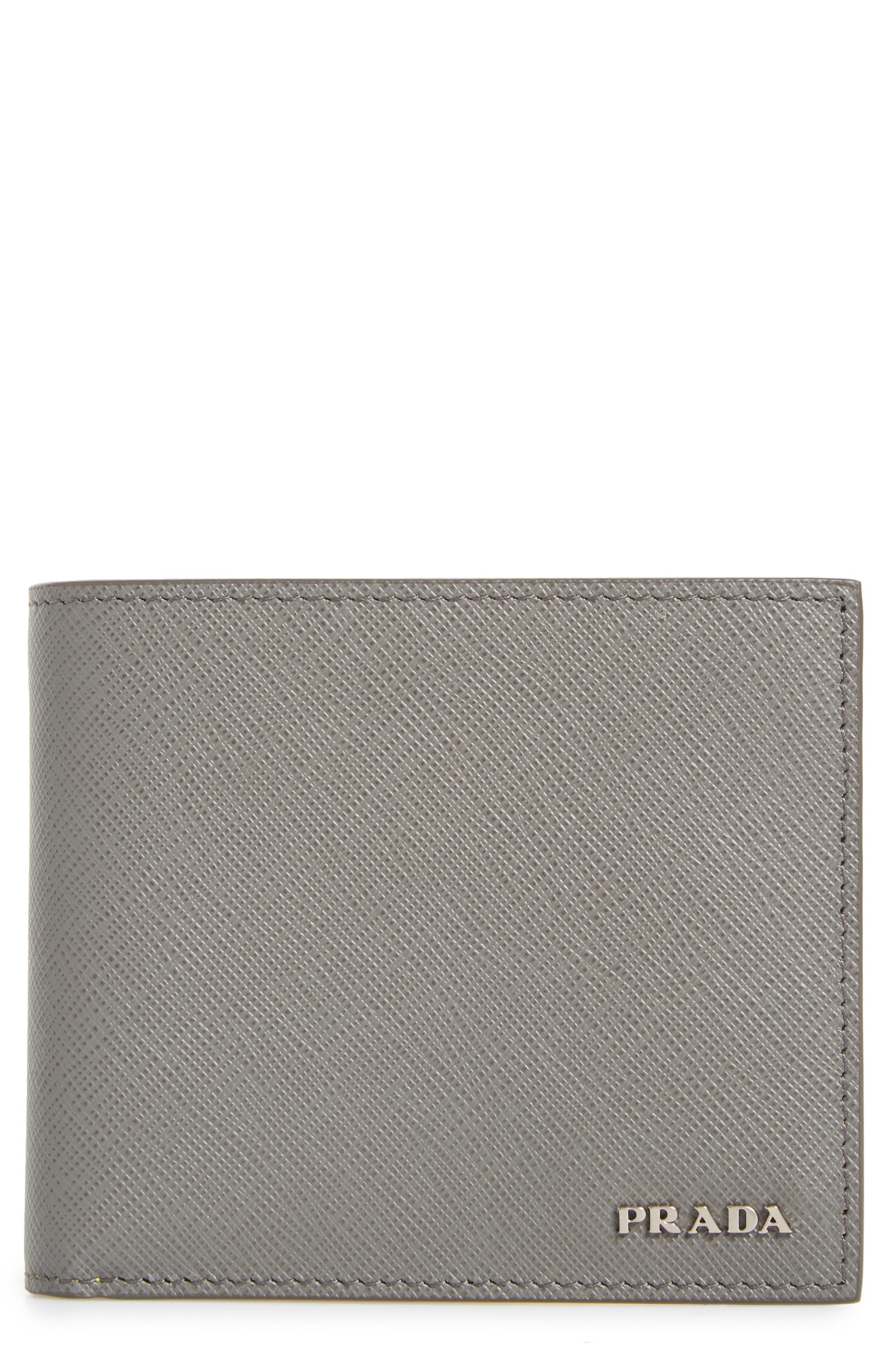Alternate Image 1 Selected - Prada Bicolor Leather Wallet
