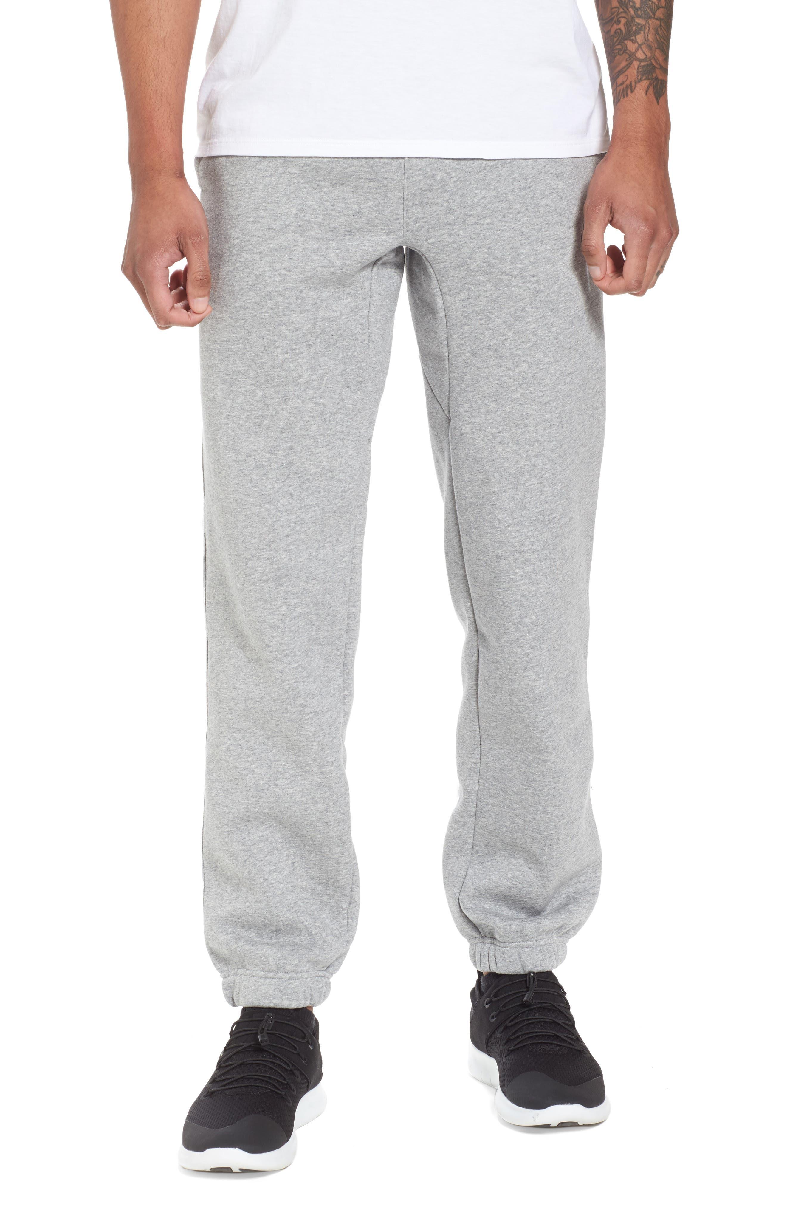 Icon Fleece Pants,                             Main thumbnail 1, color,                             Dark Steel Grey