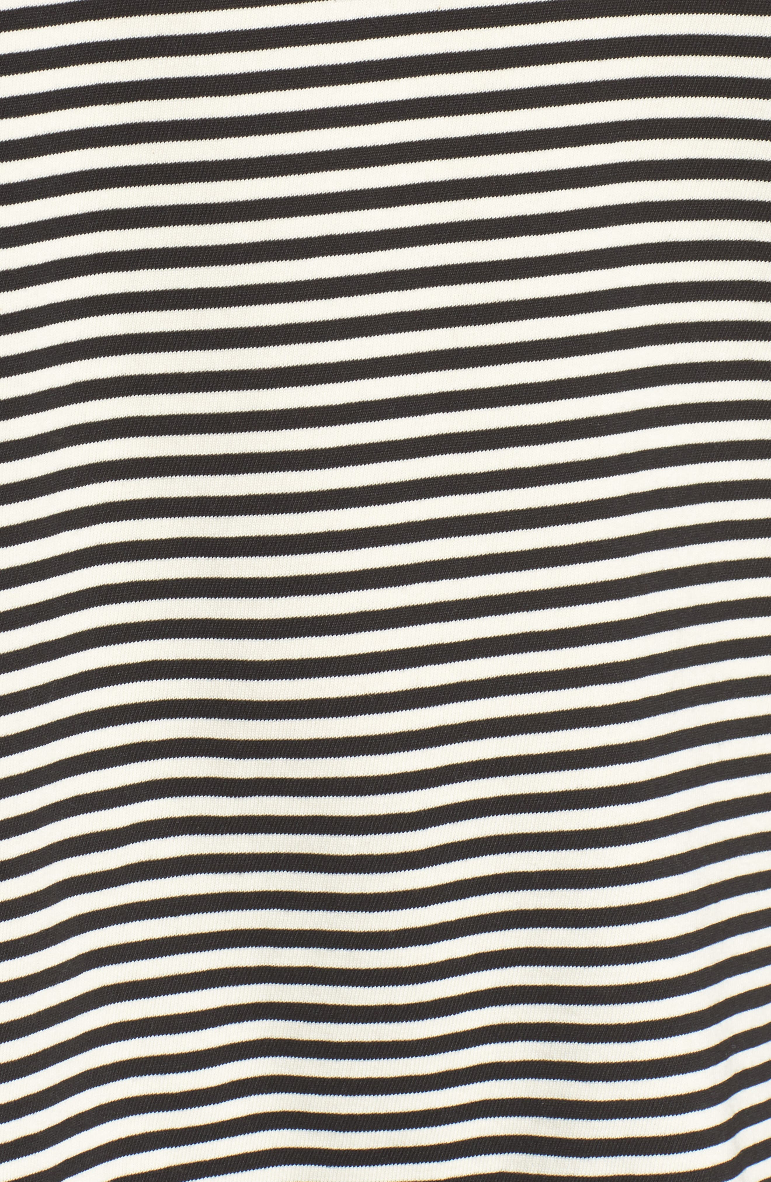 The Carina Tee,                             Alternate thumbnail 6, color,                             Black And White Feeder Stripe