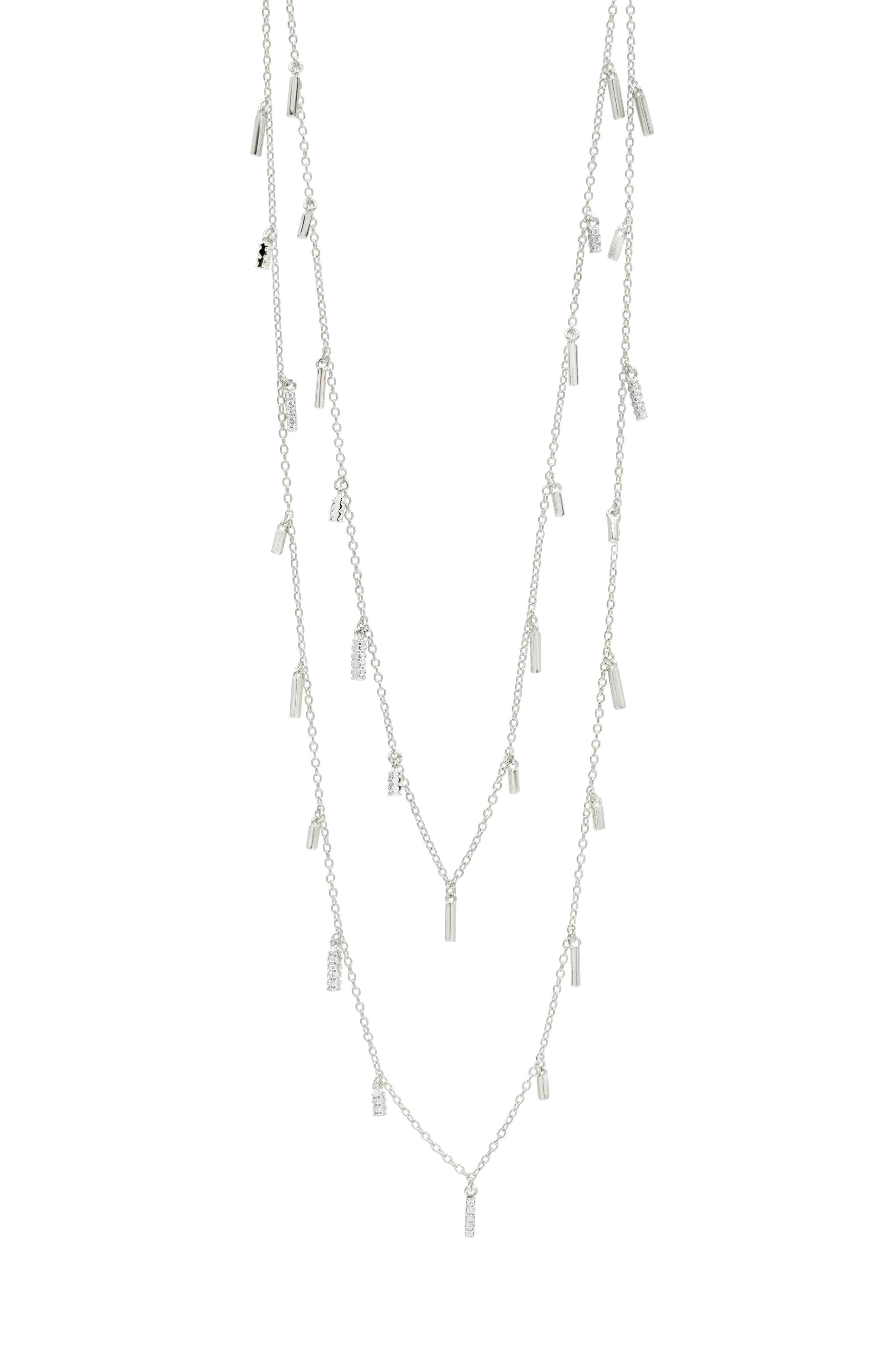 Radiance Multistrand Necklace,                             Alternate thumbnail 2, color,                             Silver