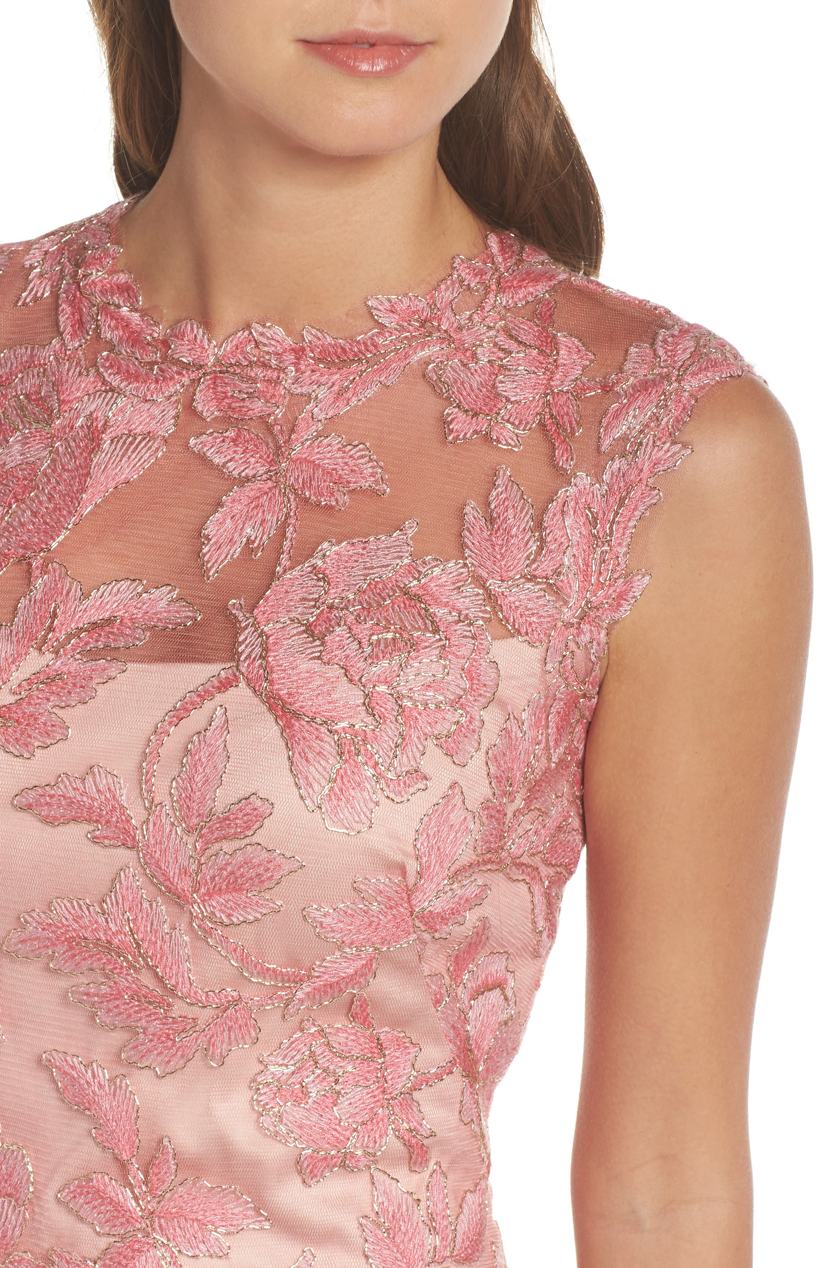Alternate Image 4  - Tadashi Shoji Noelle Floral Fit & Flare Dress (Regular & Petite)