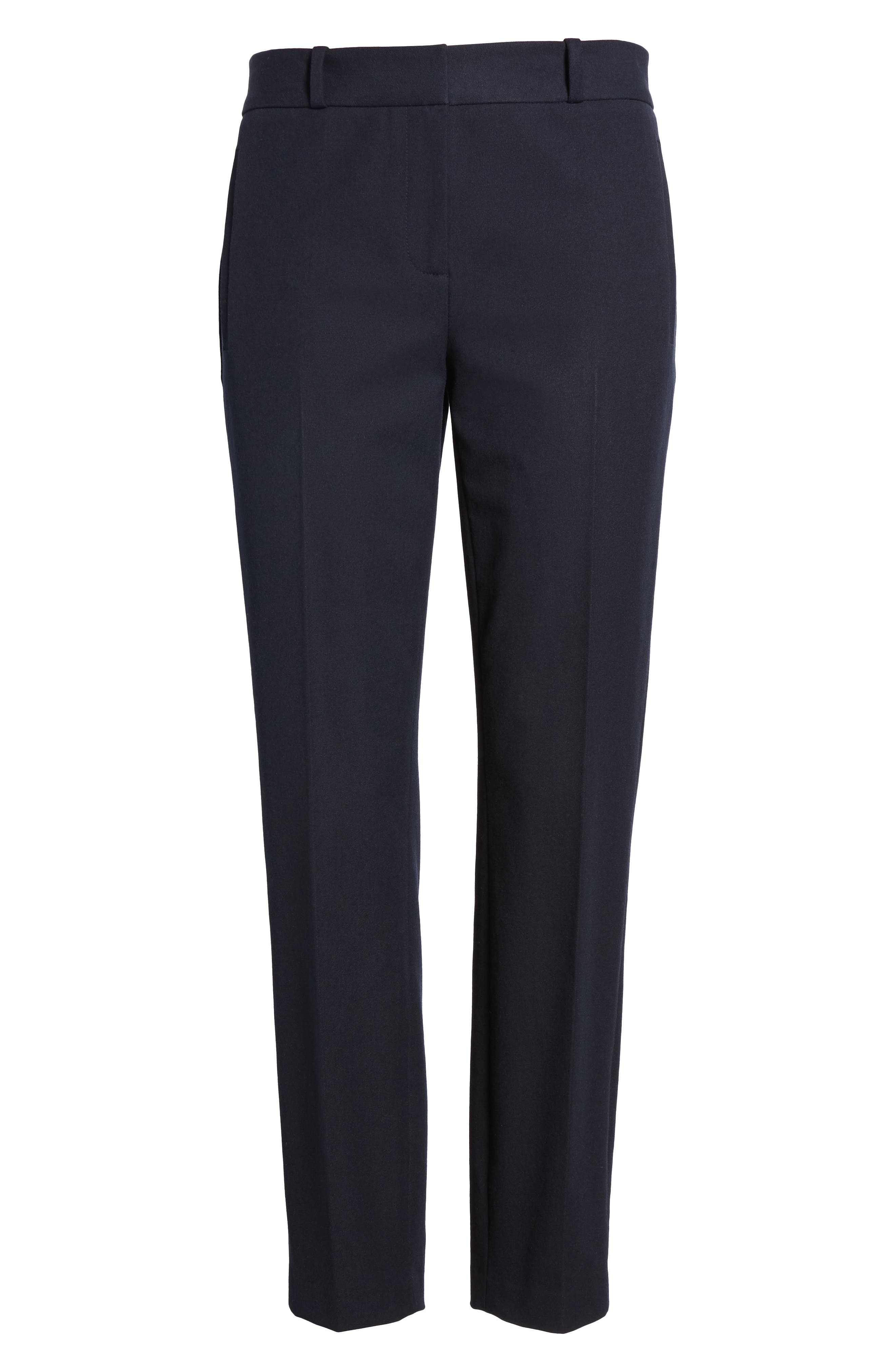 Welt Pocket Slim Leg Crop Pants,                             Alternate thumbnail 6, color,                             Navy Night
