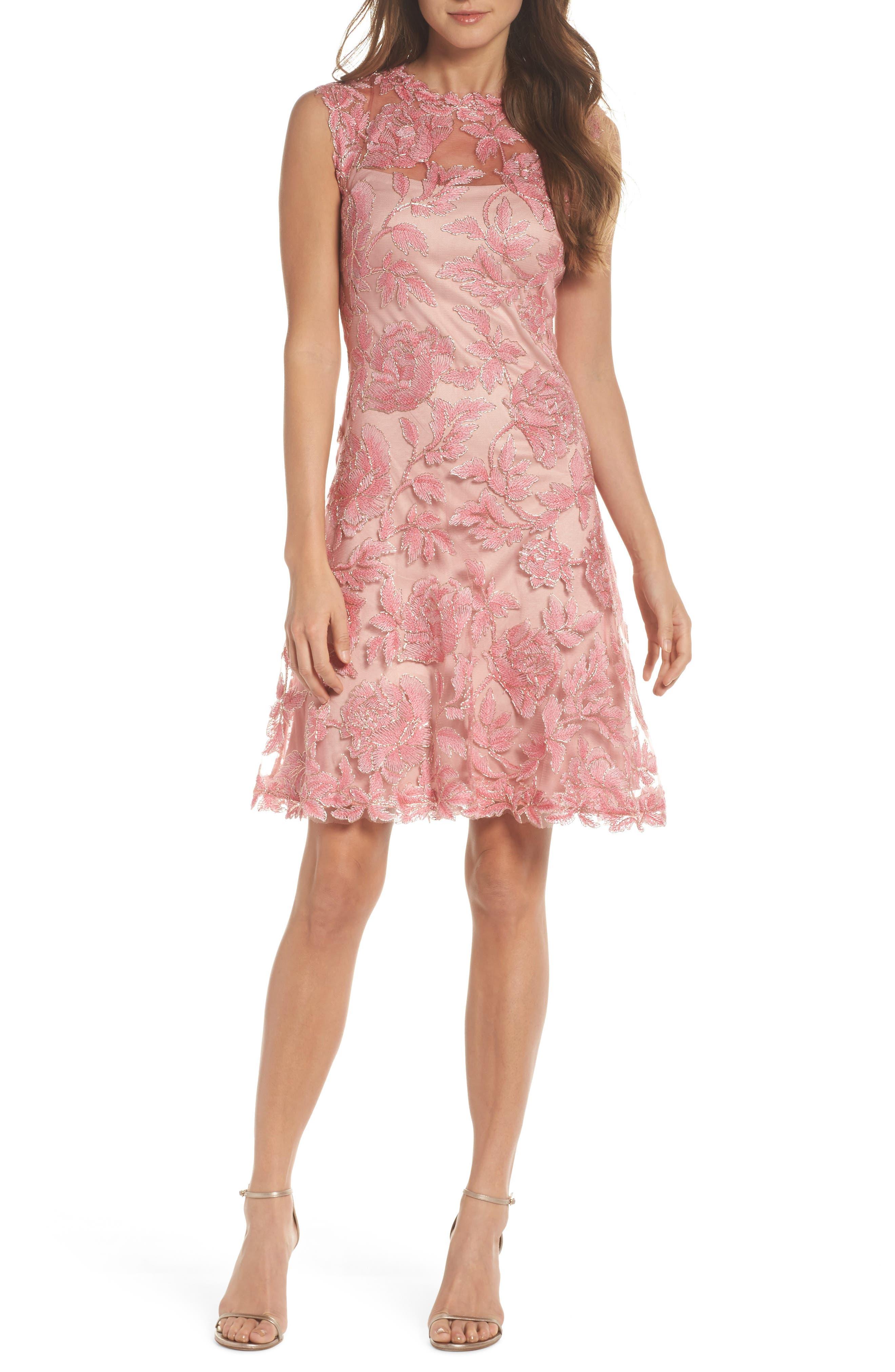 Alternate Image 1 Selected - Tadashi Shoji Noelle Floral Fit & Flare Dress (Regular & Petite)