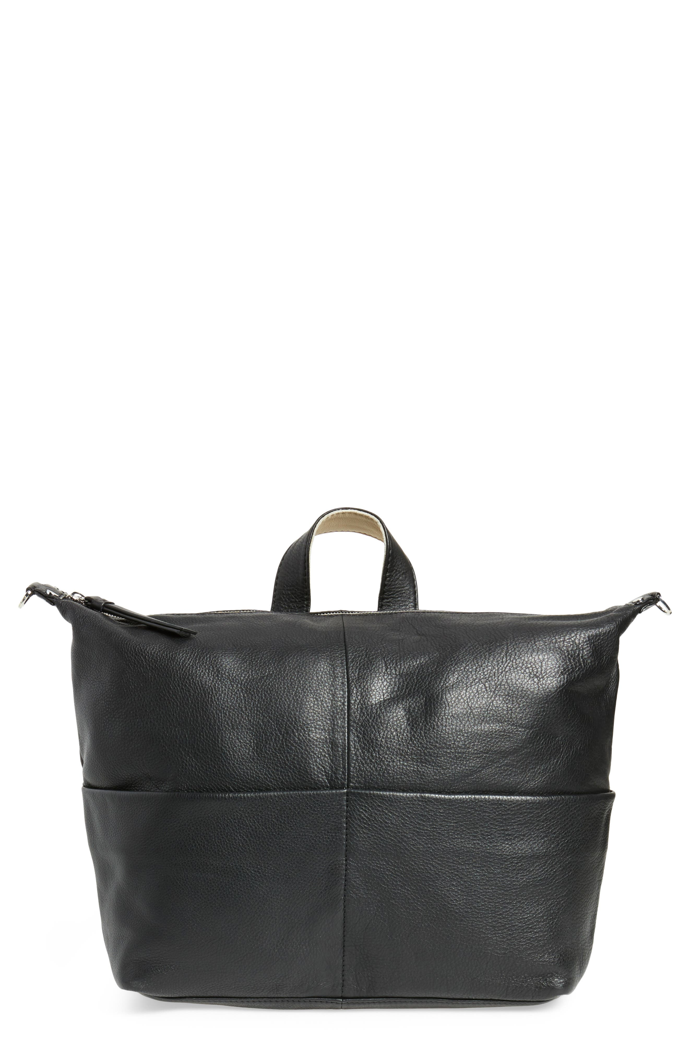 Main Image - Topshop Premium Leather Convertible Backpack