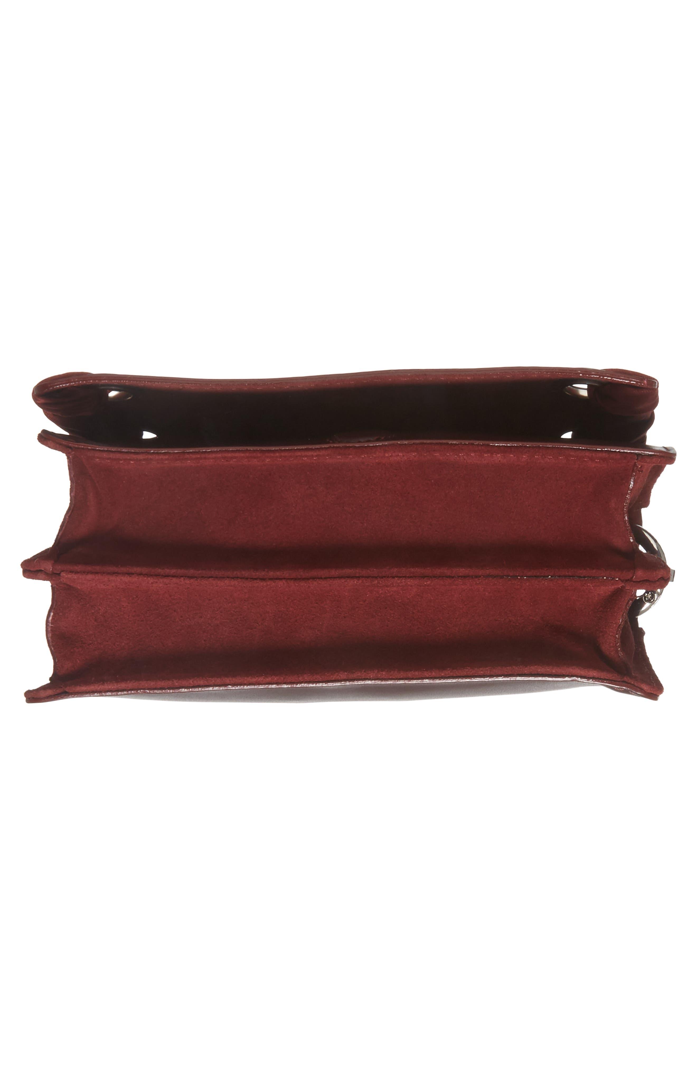 Alternate Image 5  - Topshop Premium Leather Grace Crossbody Bag