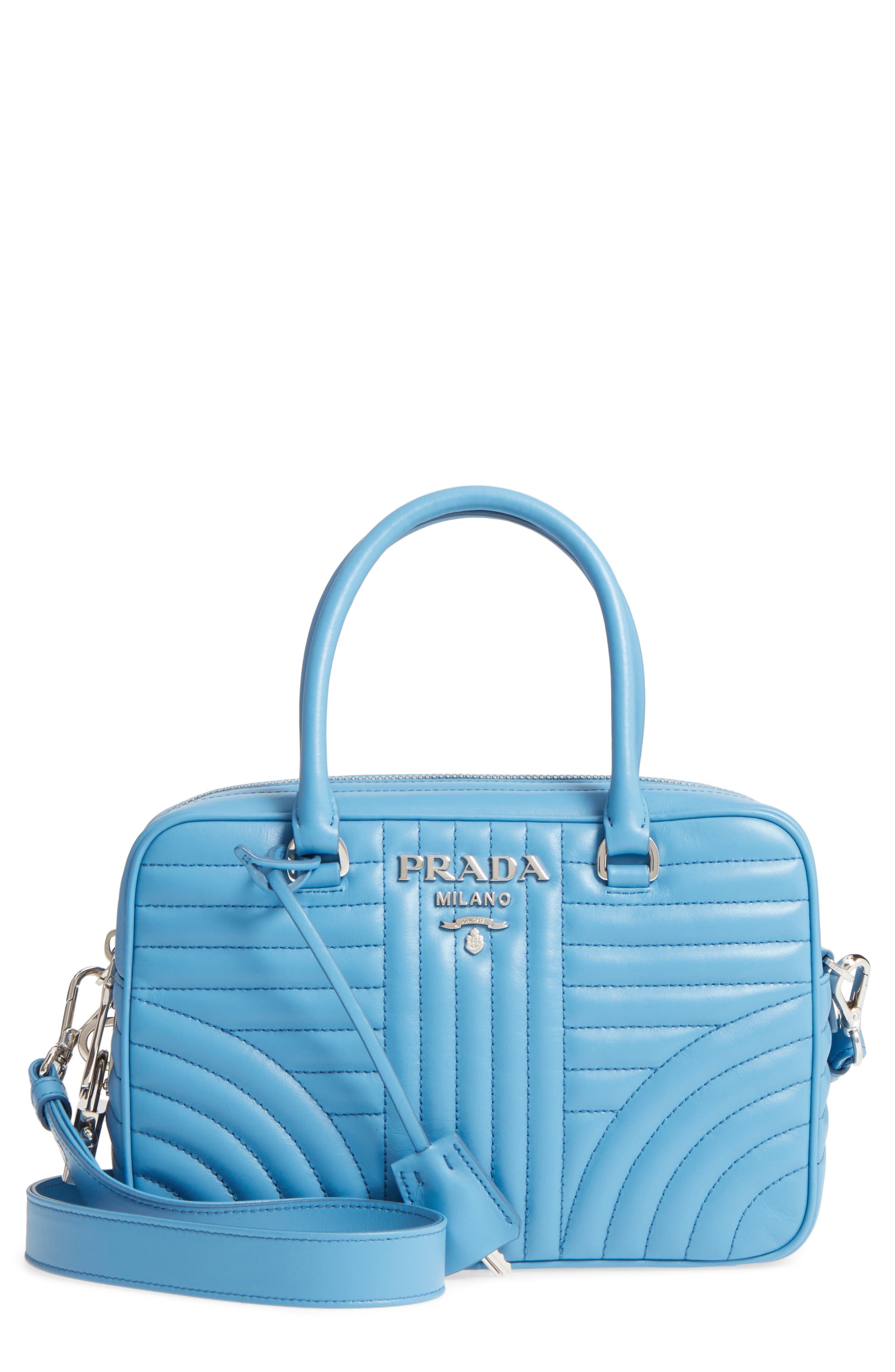 Main Image - Prada Quilted Leather Bowler Bag