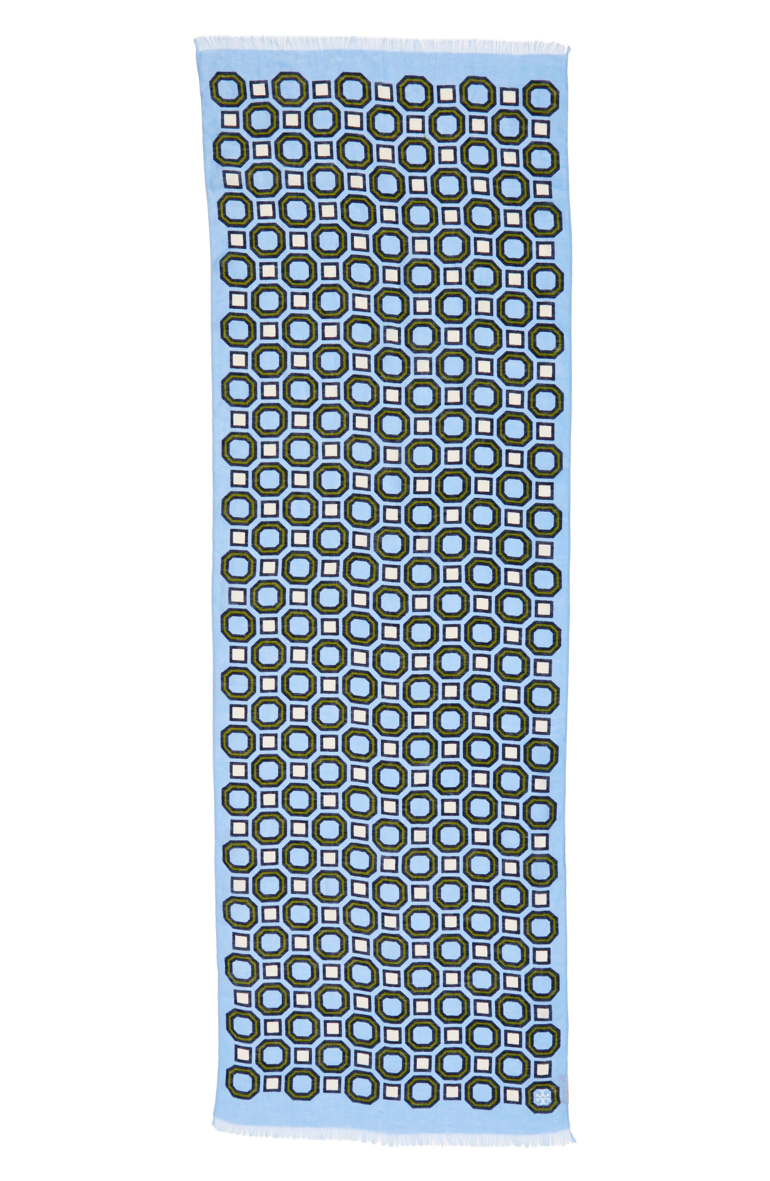 Geo Scarf,                             Alternate thumbnail 3, color,                             Light Chambray