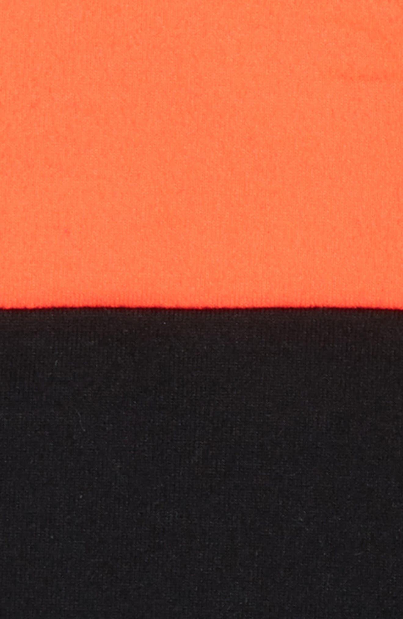 Colorblock Sports Bra,                             Alternate thumbnail 2, color,                             Black- Coral