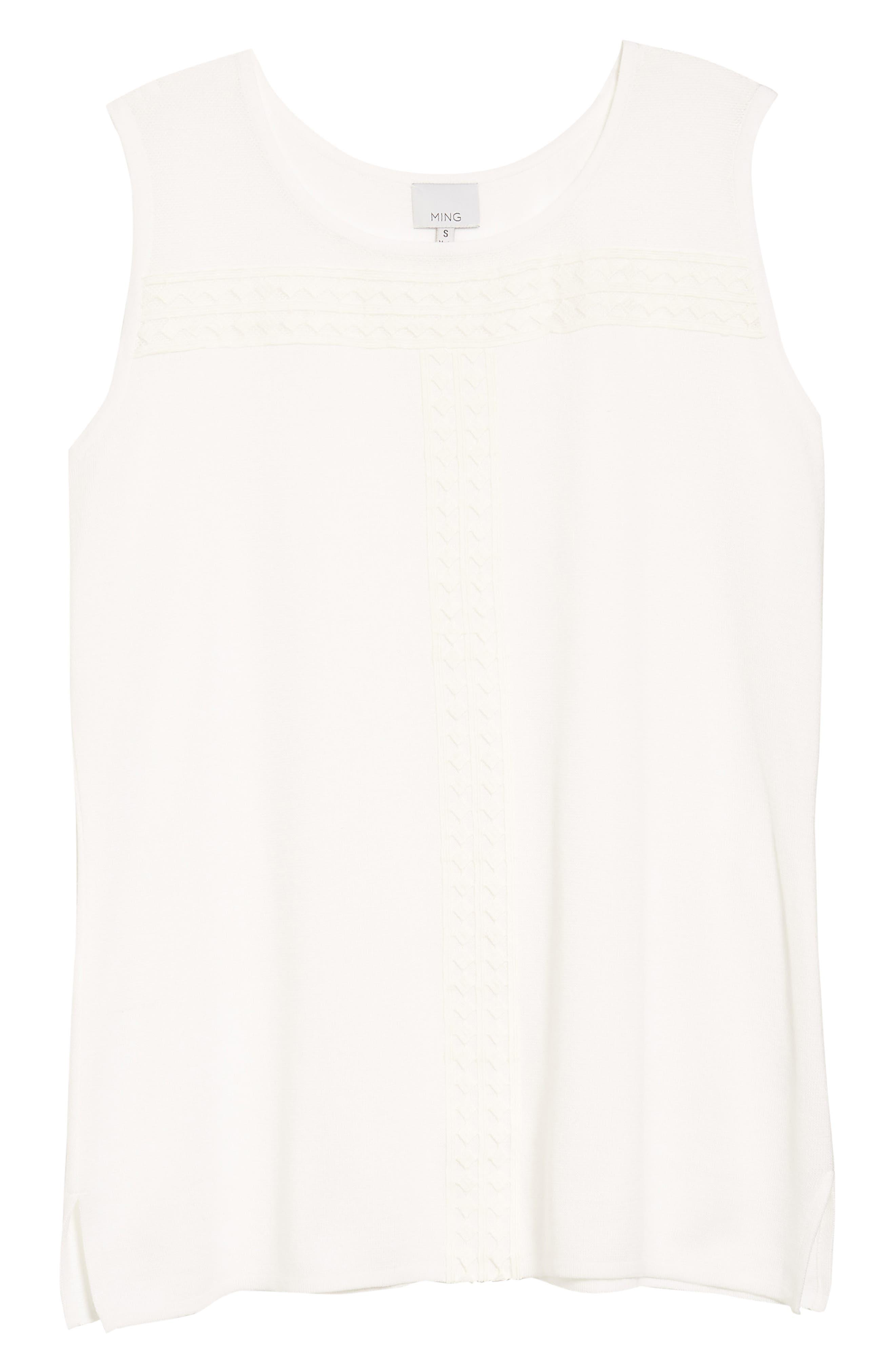 Long Knit Tank,                             Alternate thumbnail 6, color,                             White
