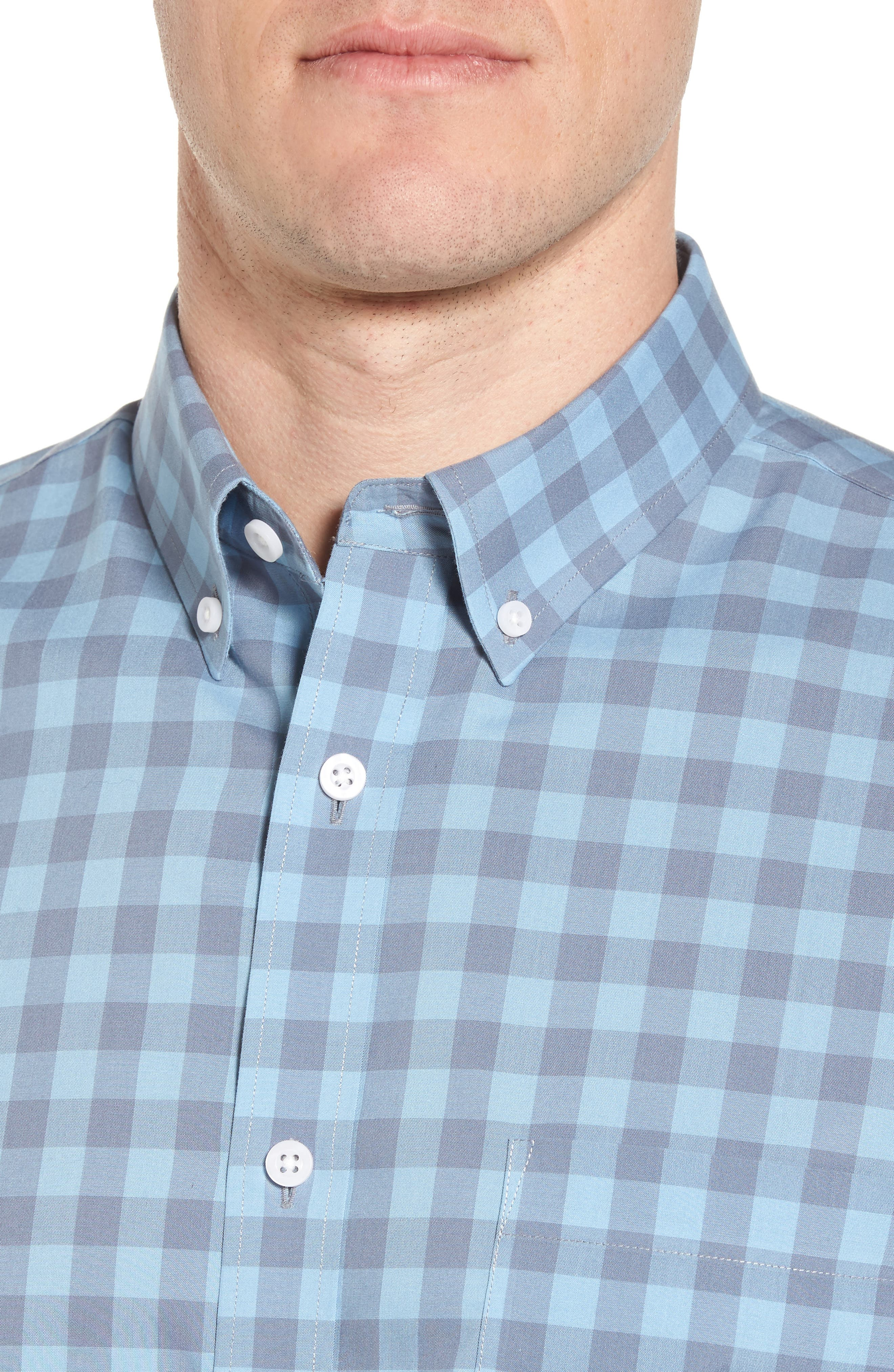Regular Fit Gingham Sport Shirt,                             Alternate thumbnail 2, color,                             Blue Dusk Grey Gingham