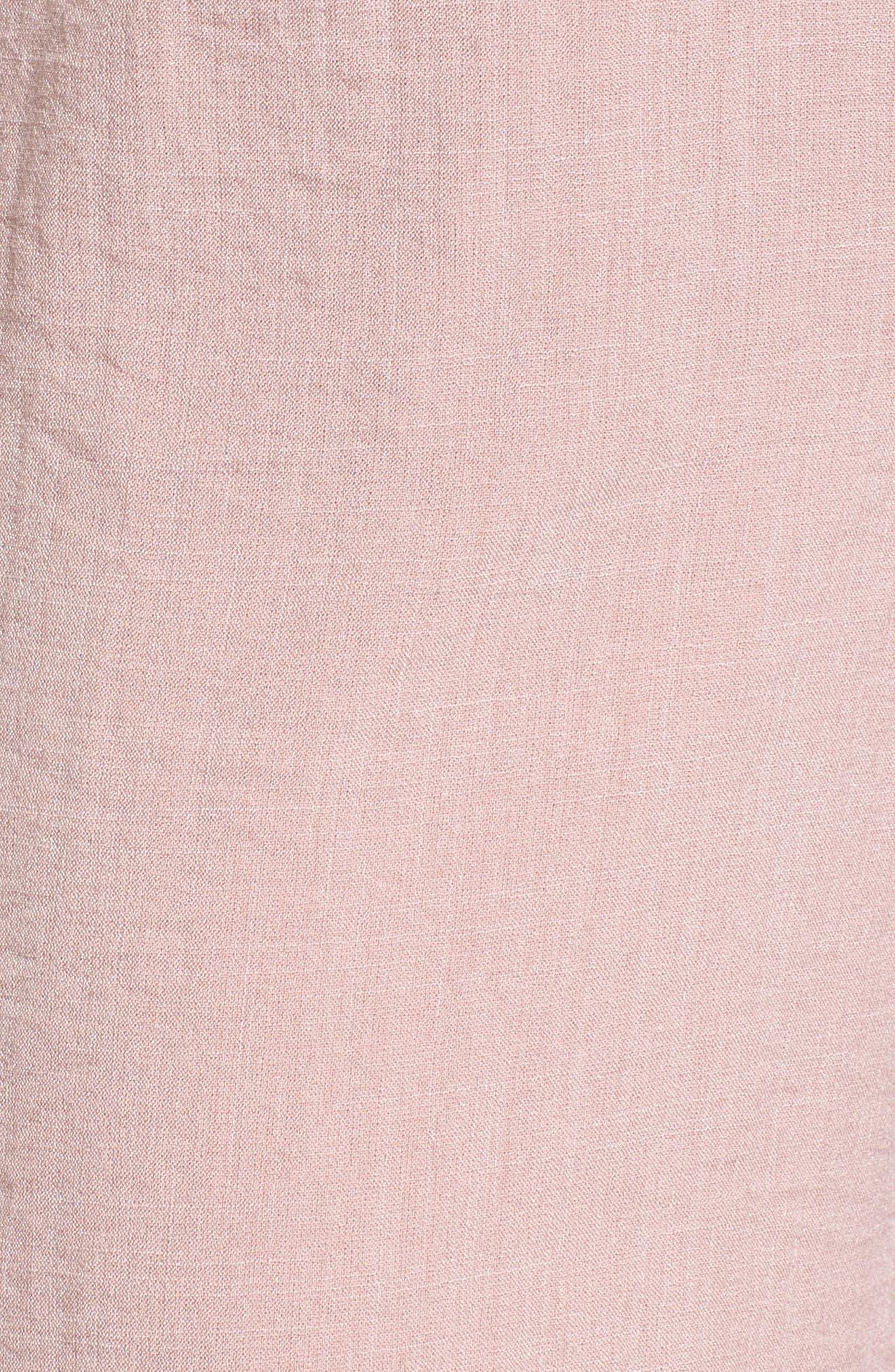 Peony Tie Waist Jumpsuit,                             Alternate thumbnail 6, color,                             Pink