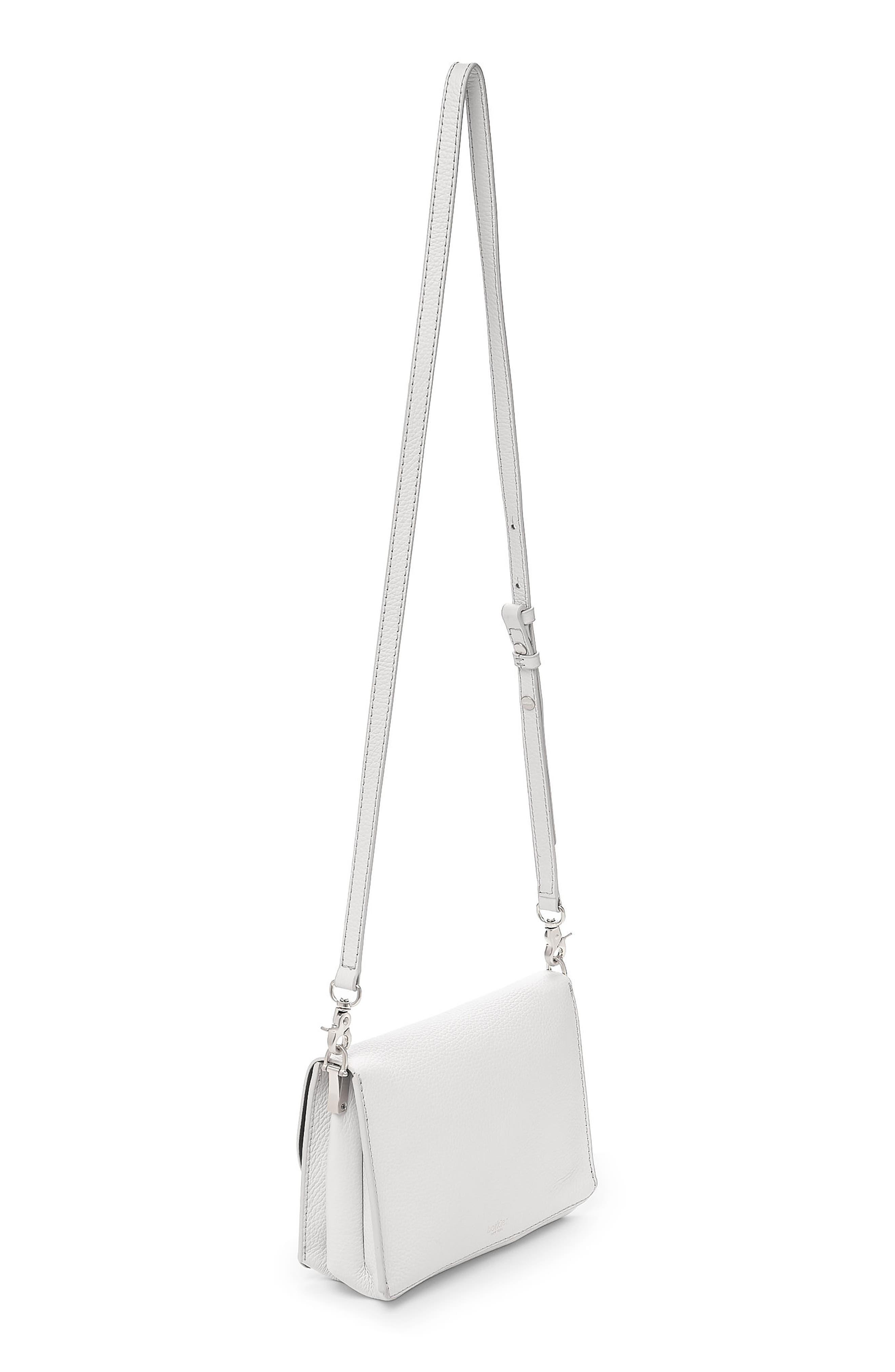 Waverly Leather Crossbody Bag,                             Alternate thumbnail 2, color,                             Chalk