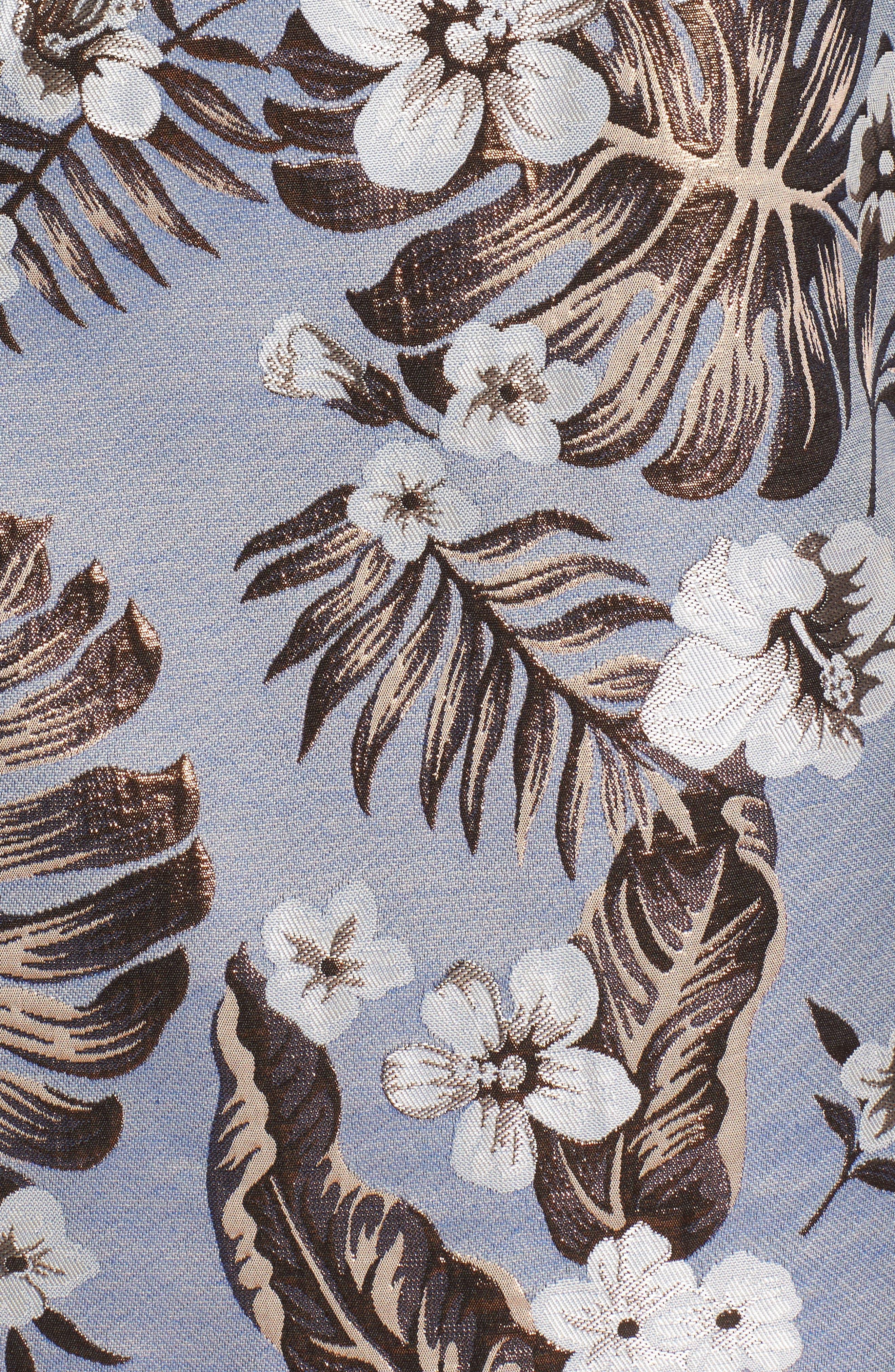 Solaire Sheath Dress,                             Alternate thumbnail 5, color,                             Denim