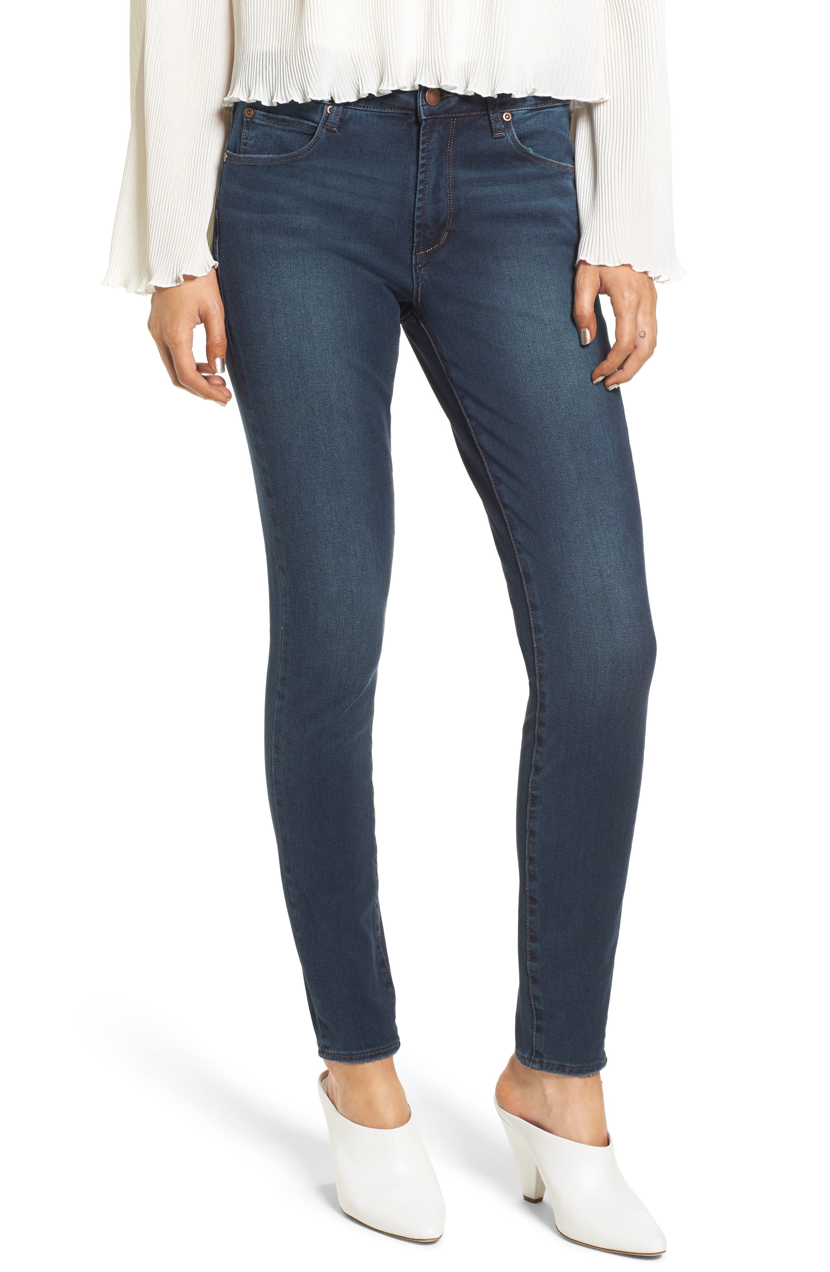 Alternate Image 1 Selected - Leith Skinny Jeans (Medium Wash)