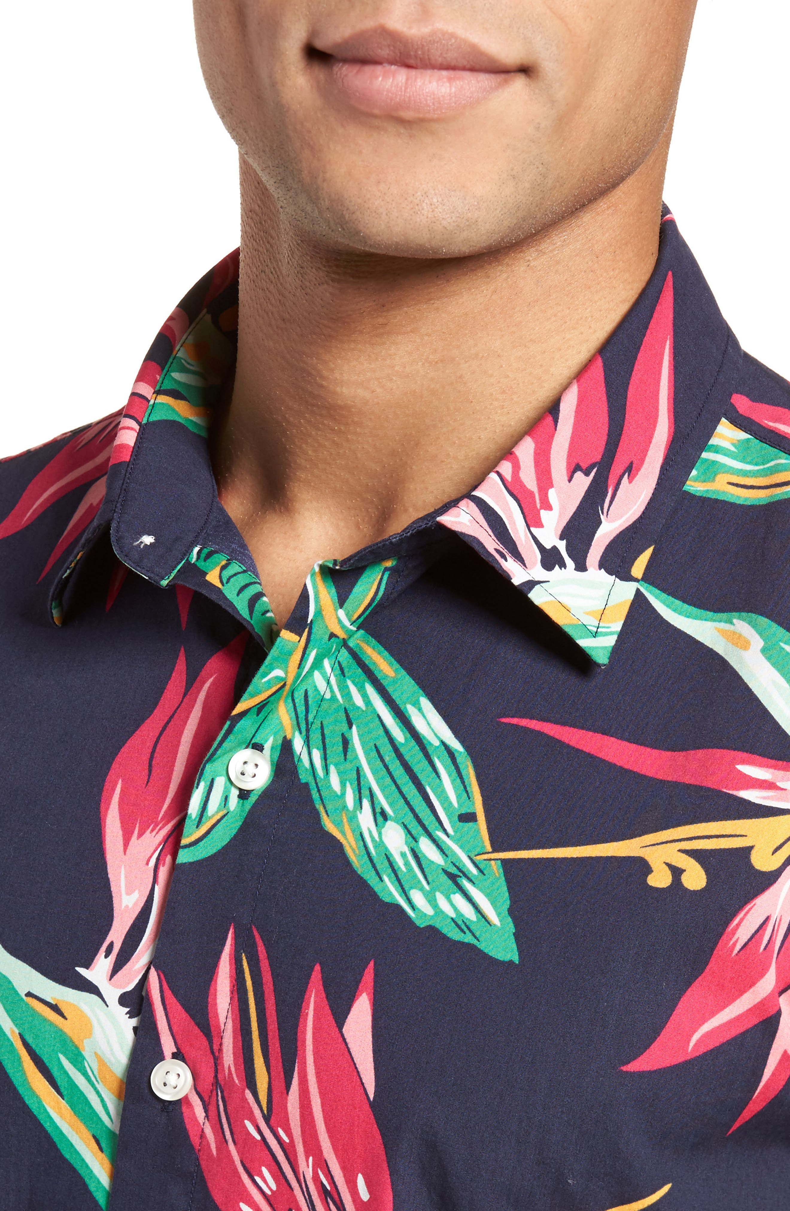 Alternate Image 2  - Bonobos Slim Fit Print Short Sleeve Sport Shirt